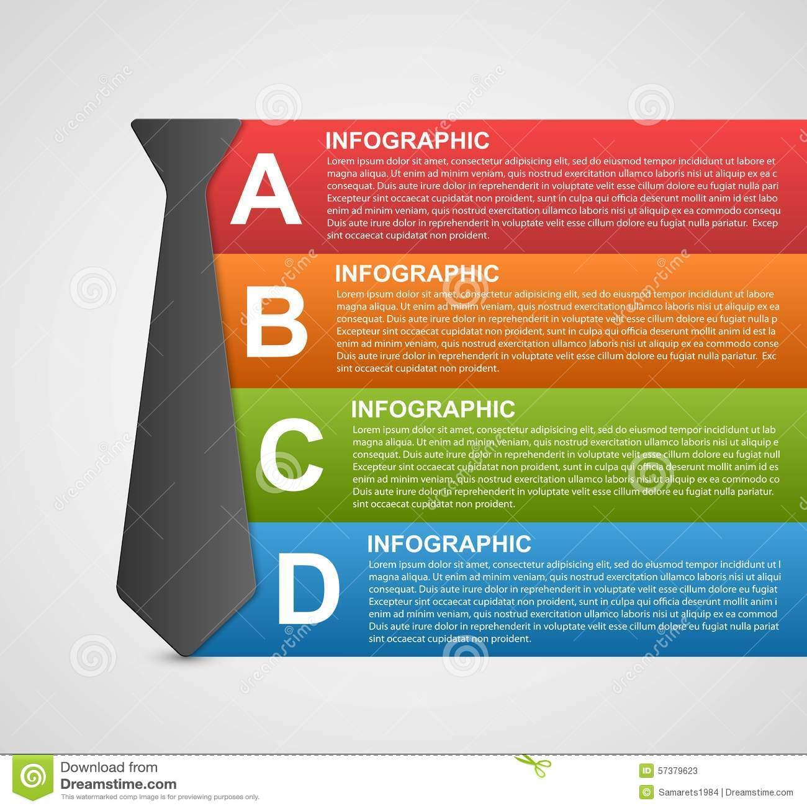 Abstracte infographic optiesbanner De elementen van het ontwerp