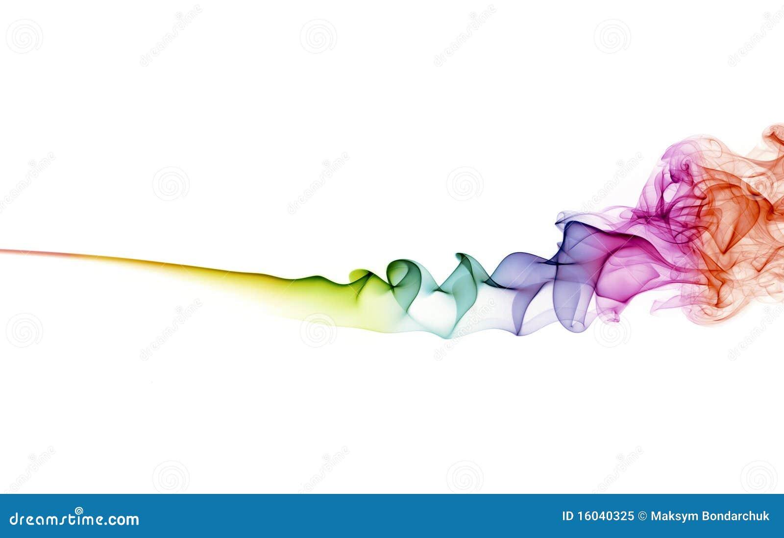 Abstracte kleurenrook op witte achtergrond
