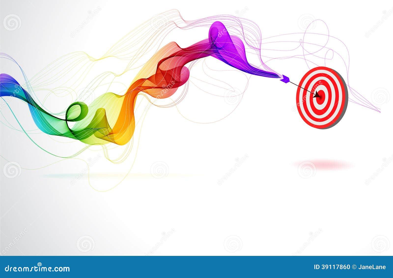 Abstracte kleurrijke achtergrond met Pijl