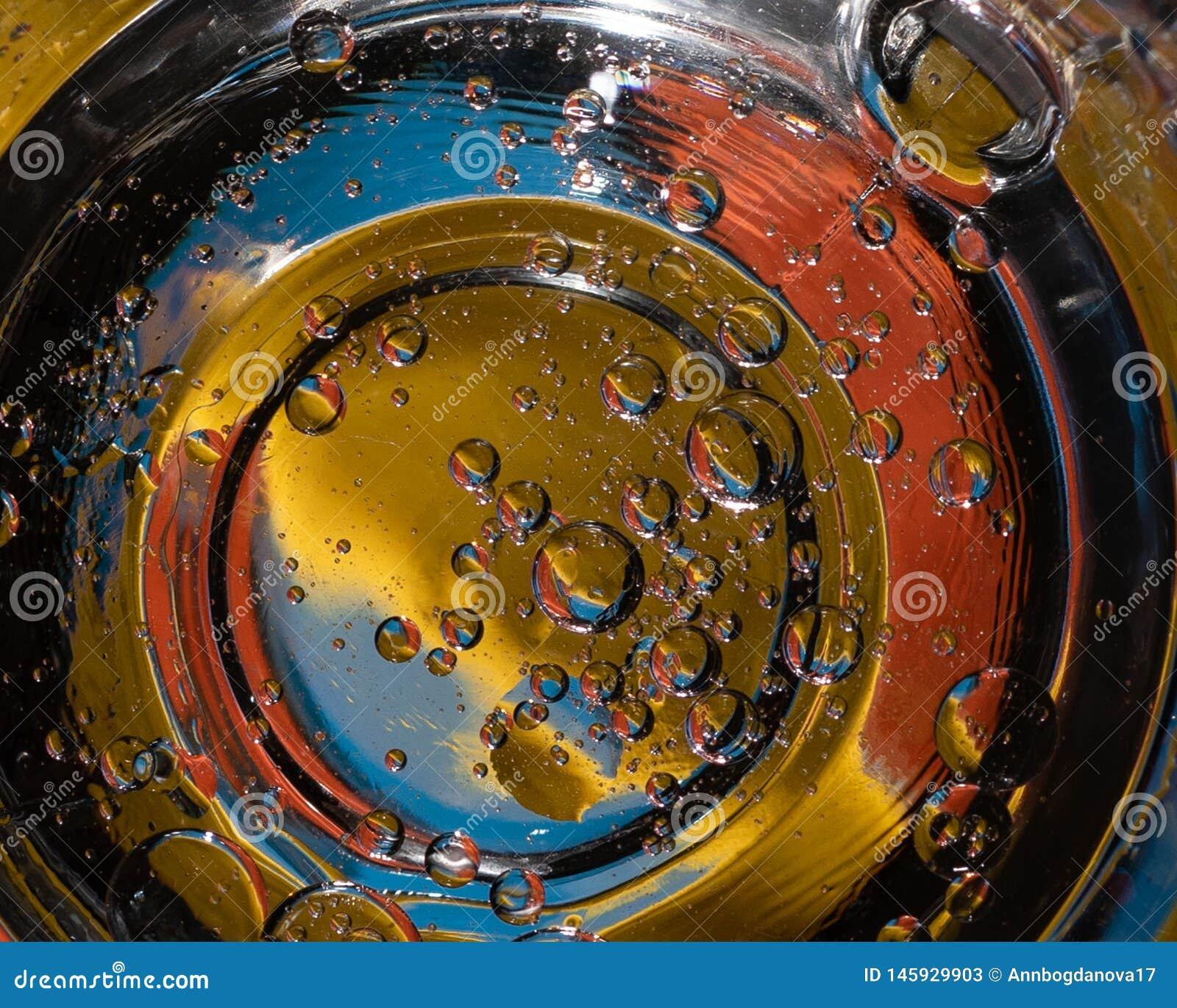 Abstracte kleurrijke bellenachtergrond die op planeten in het heelal lijken
