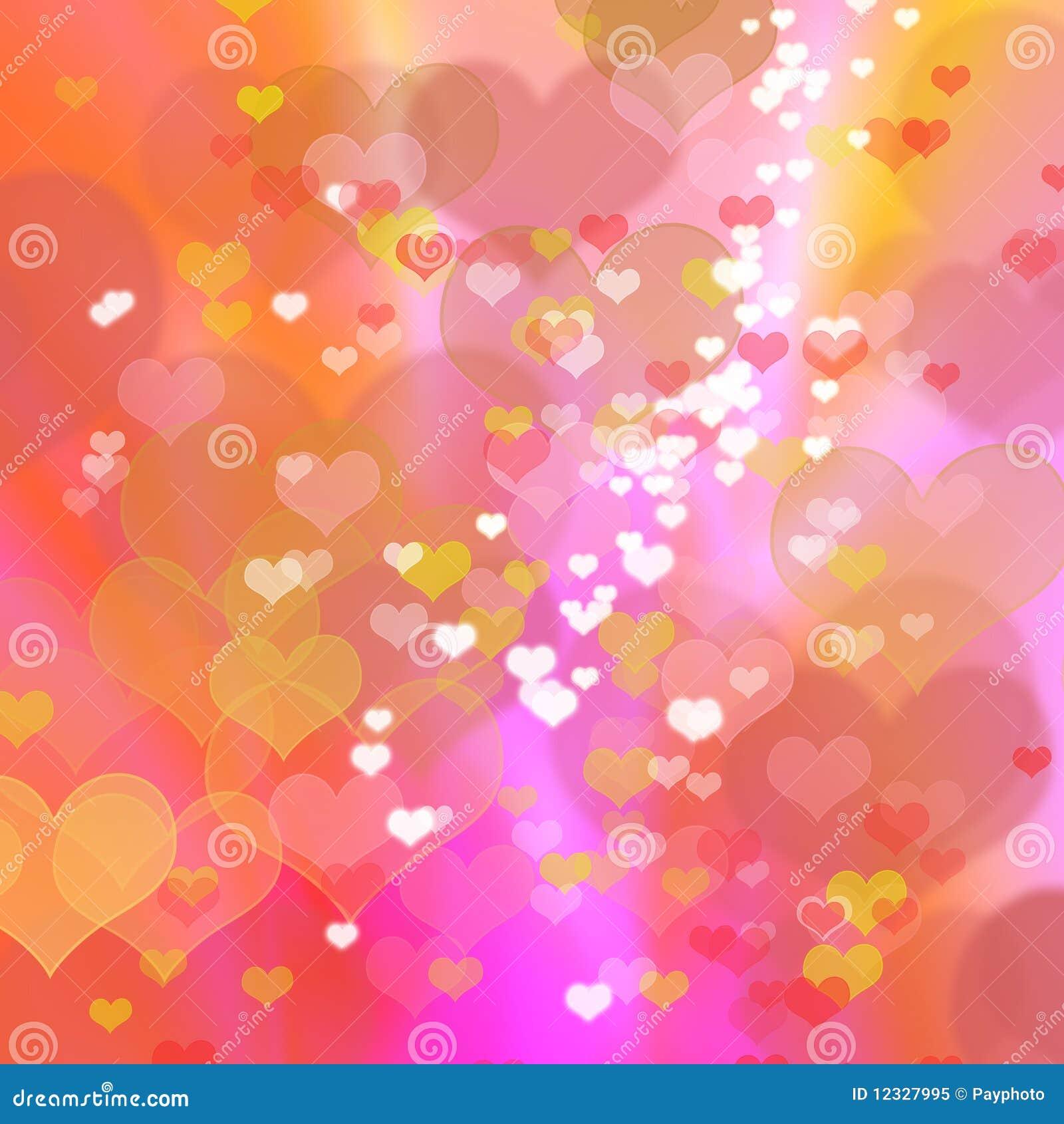 Abstracte kleurrijke hartachtergrond