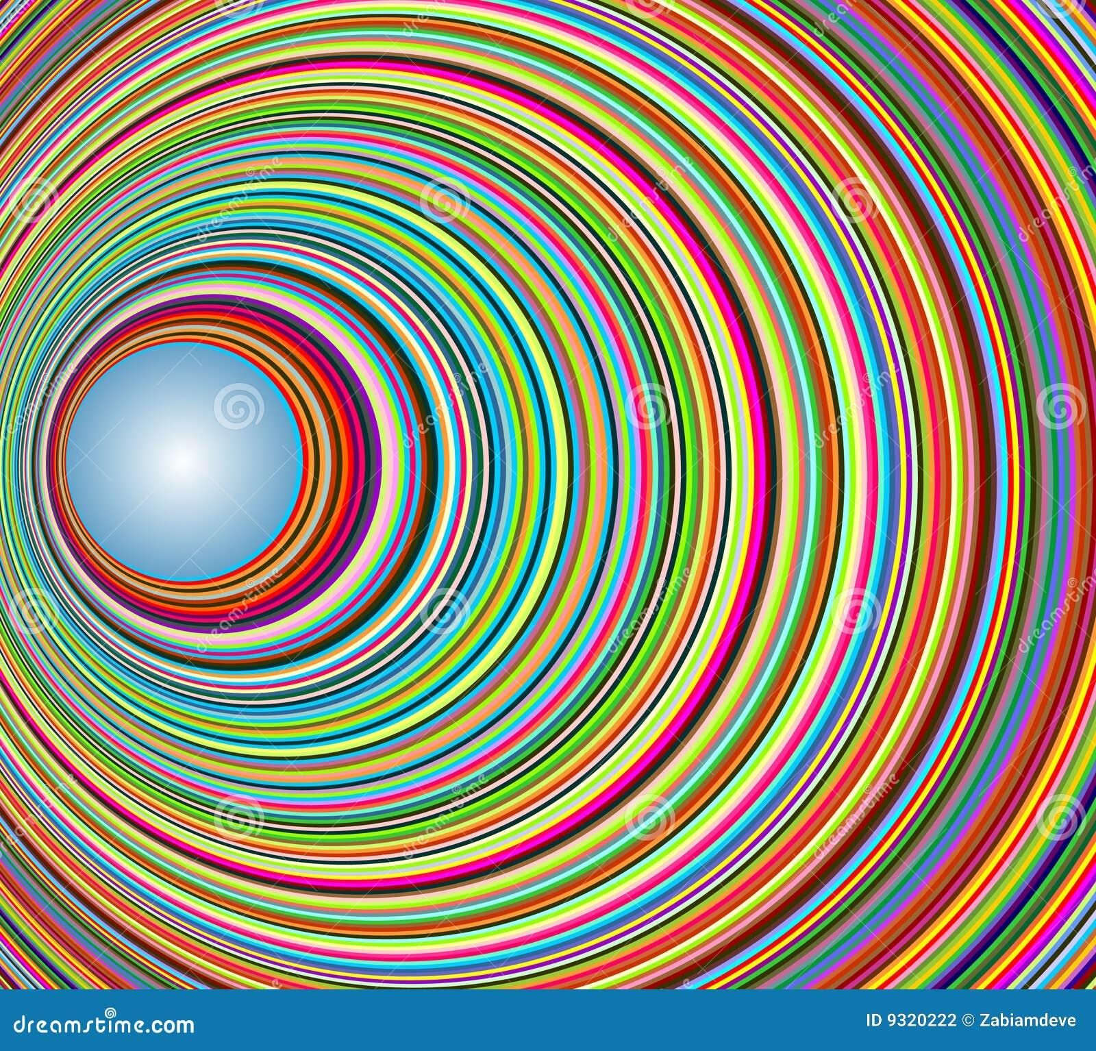 Abstracte kleurrijke tunnel met cirkels