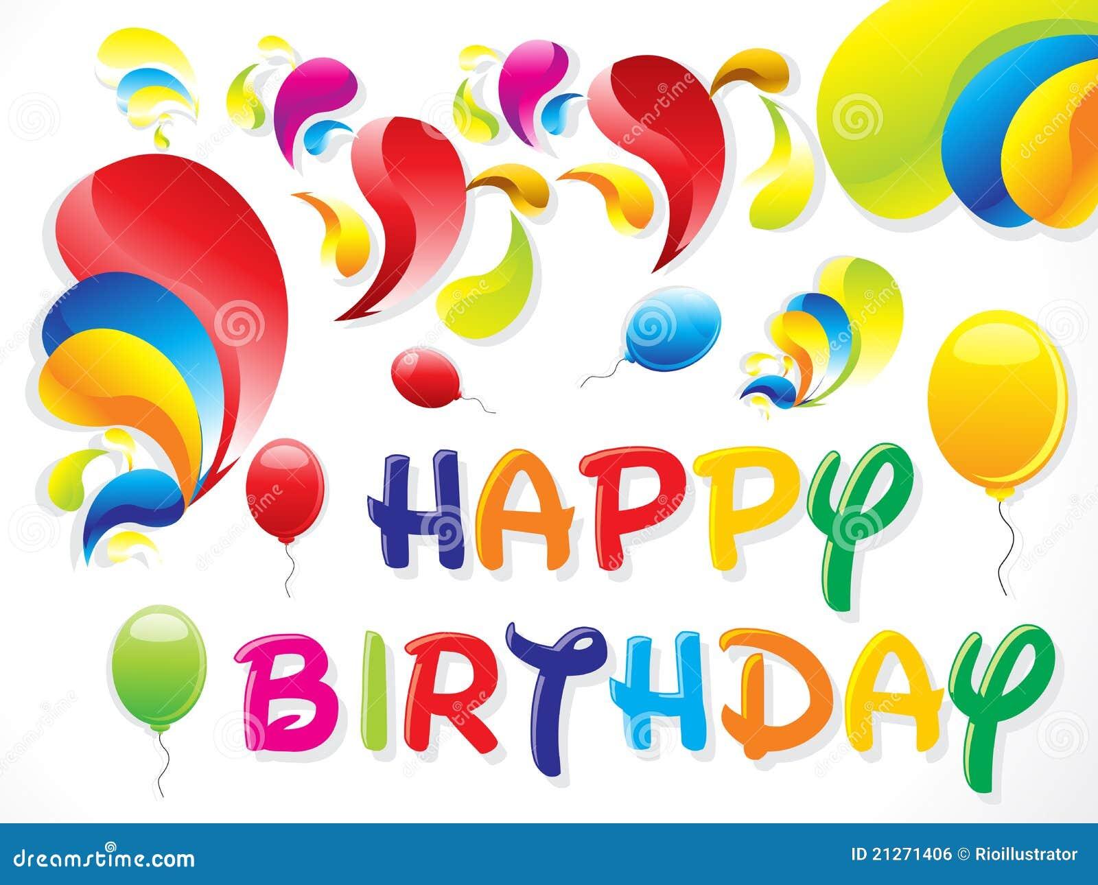 verjaardagskaart afbeelding Abstracte Kleurrijke Verjaardagskaart Vector Illustratie  verjaardagskaart afbeelding