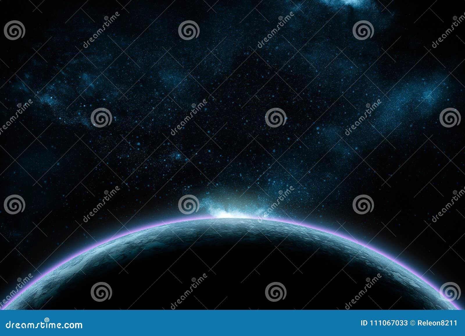 Abstracte kosmische ruimtenevel