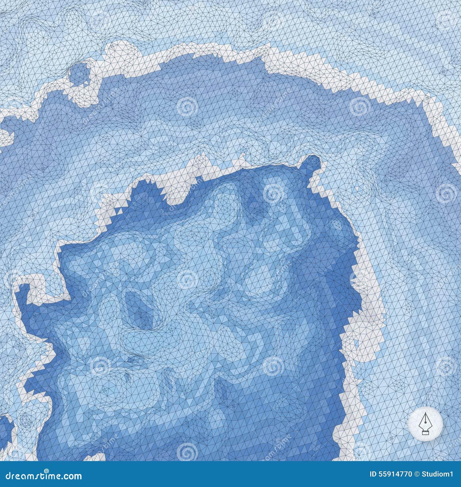 Abstracte landschapsachtergrond Mozaïekvector