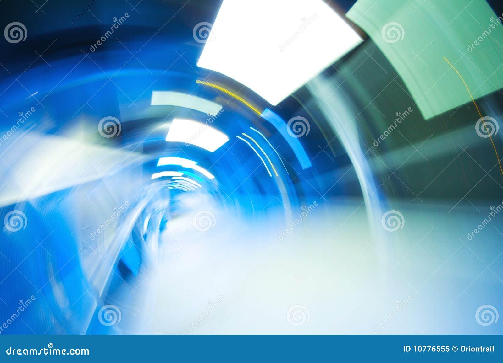 Abstracte lichte tunnel