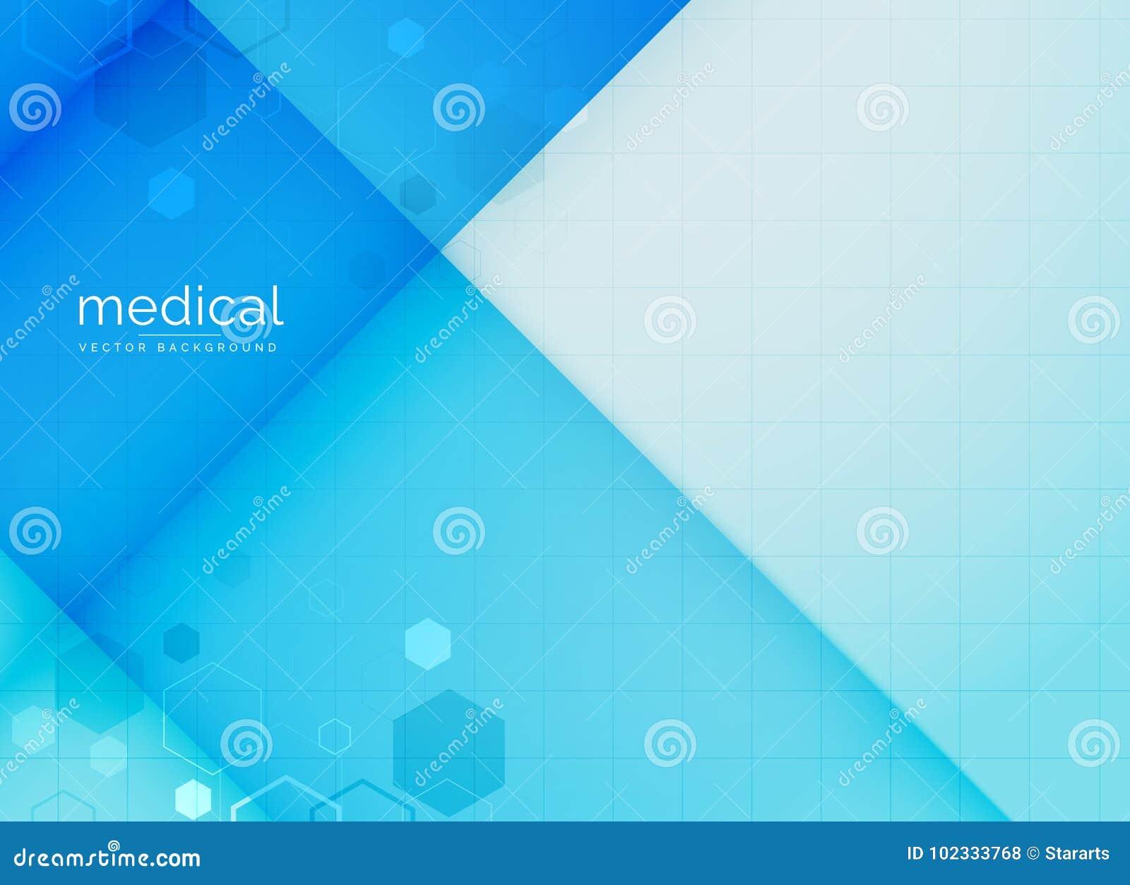 Abstracte medische achtergrond in blauwe kleur