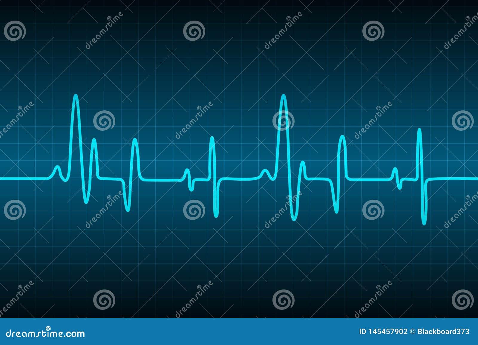 Abstracte medische cardiologie ekg achtergrond, Medische abstracte achtergrond, ecg achtergrond