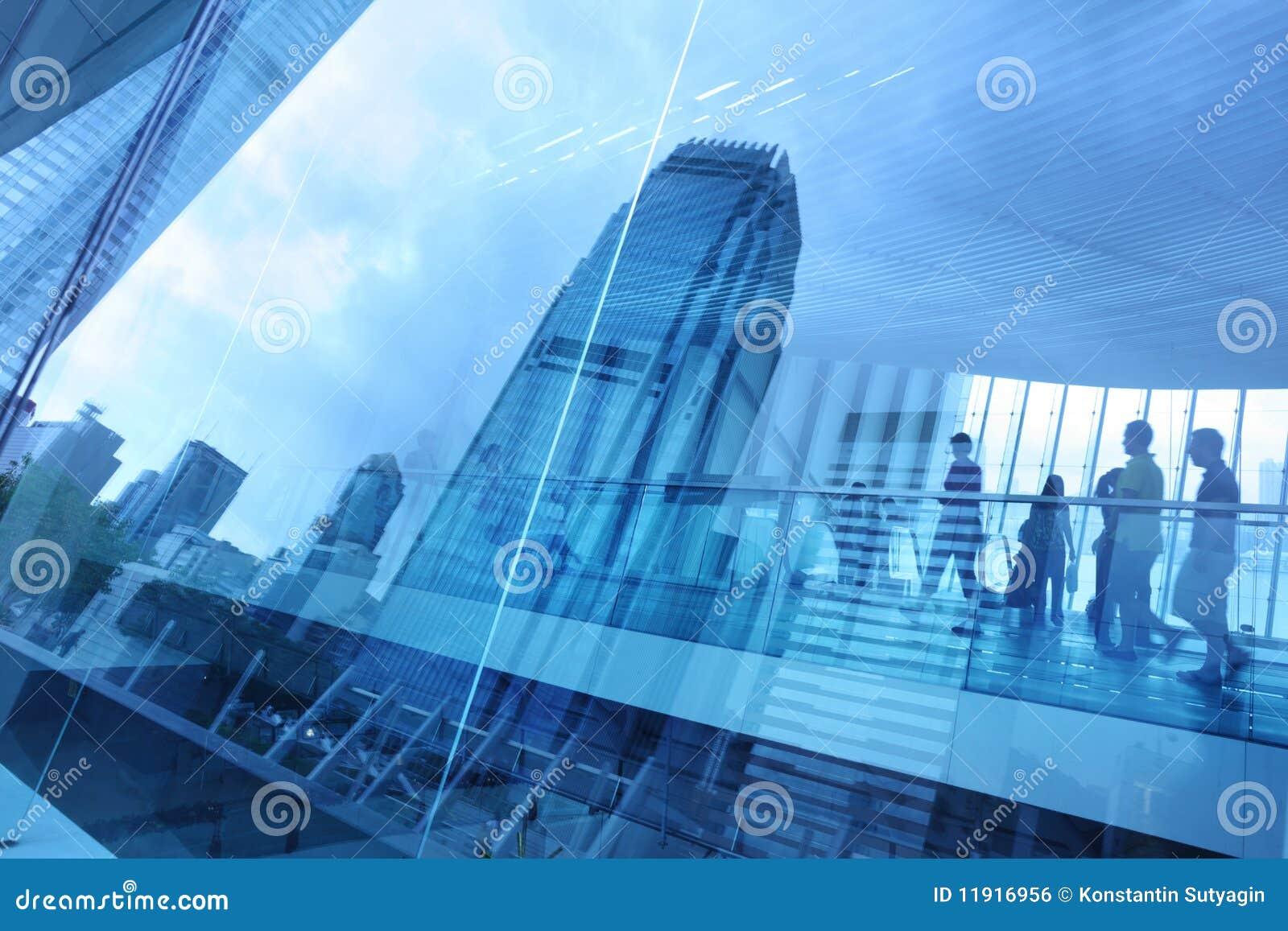 Abstracte moderne stadsachtergrond