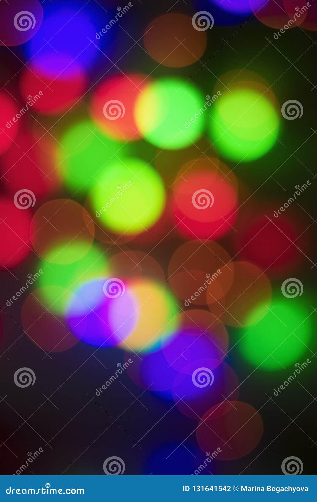 Abstracte multi-colored bokeh op een zwarte achtergrond