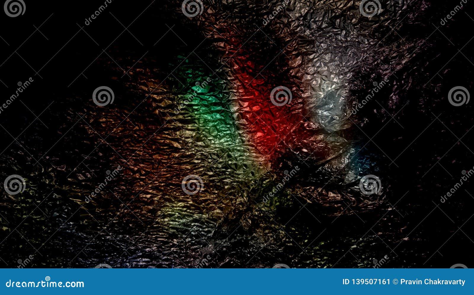 Abstracte multicolored in de schaduw gestelde metaal geweven achtergrond met verlichtingsgevolgen behang