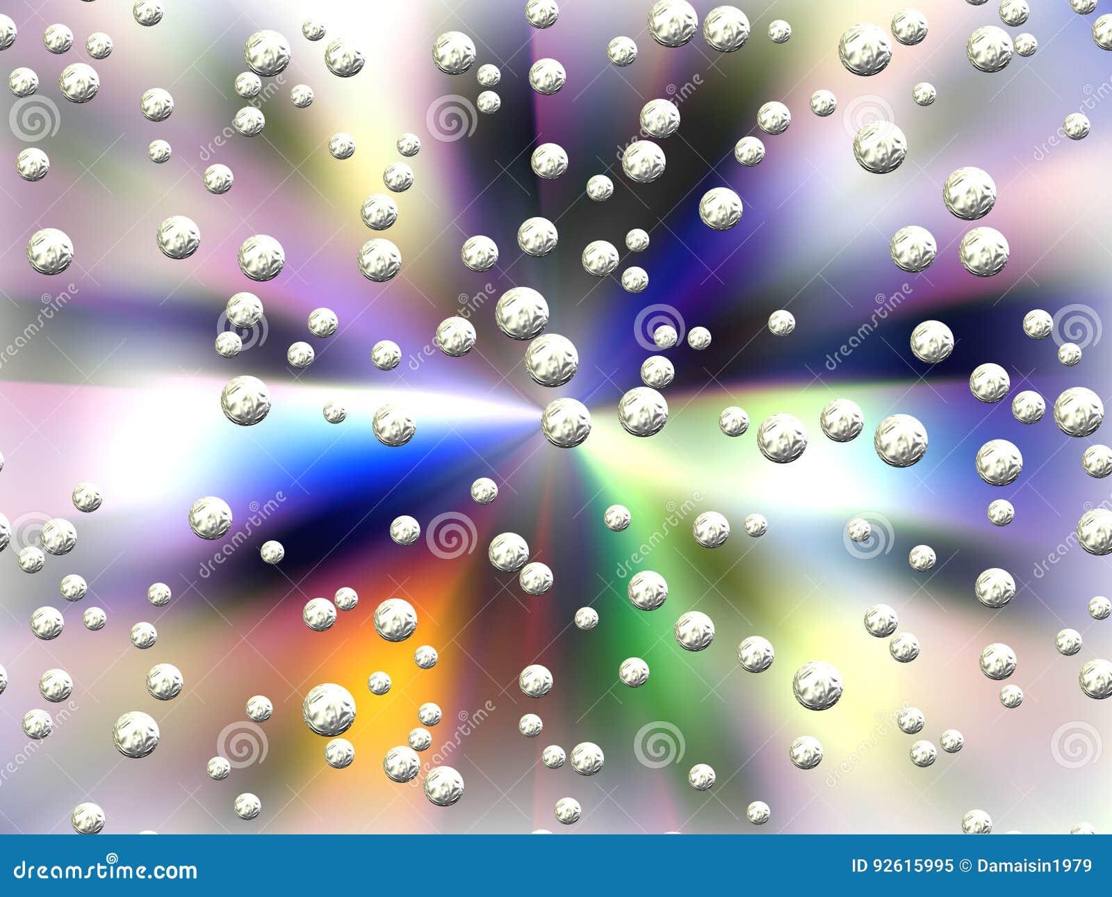 Abstracte pastelkleurachtergrond en planeten of gebieden