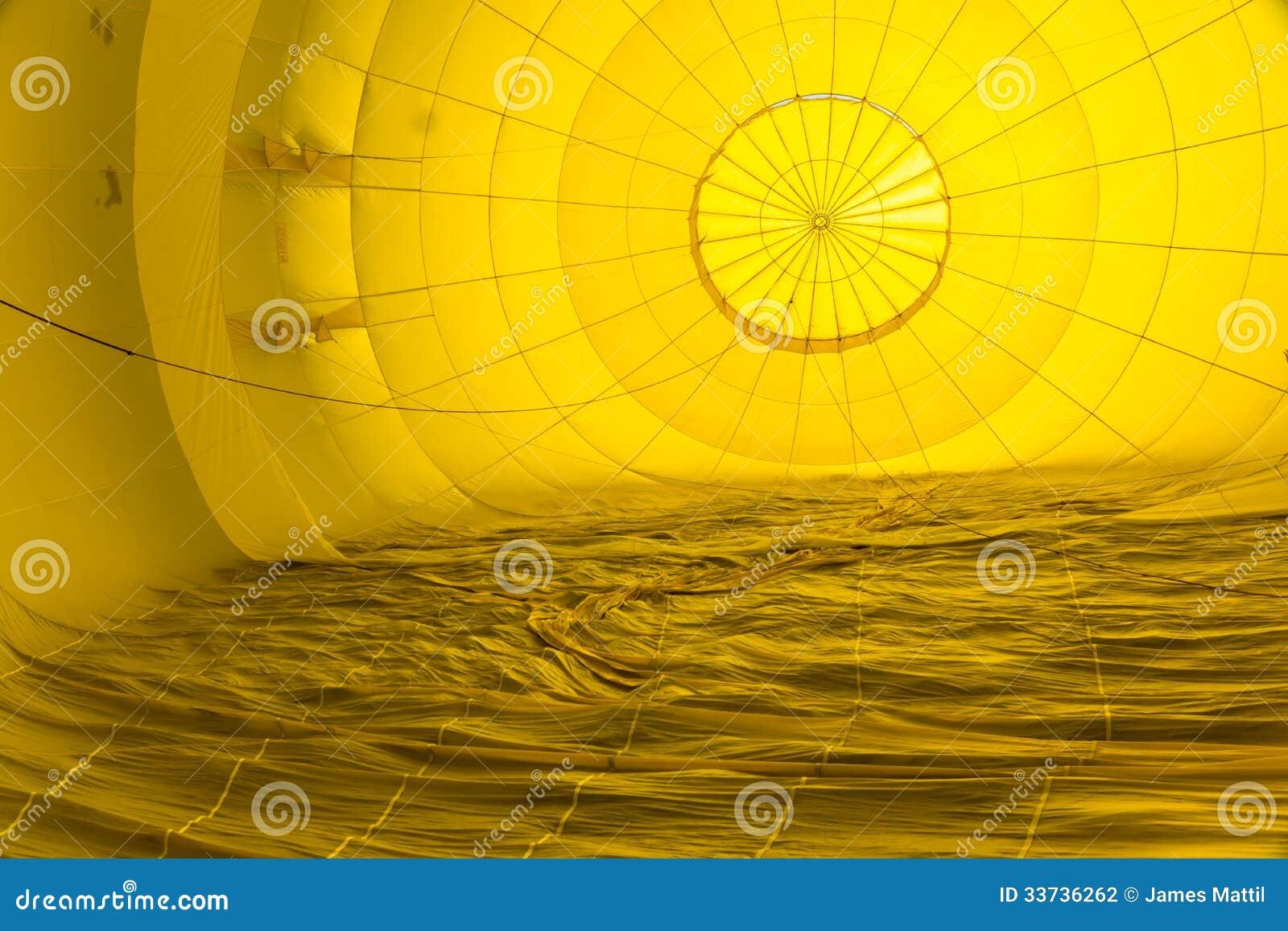 Abstracte Patronen binnen een Hete Luchtballon