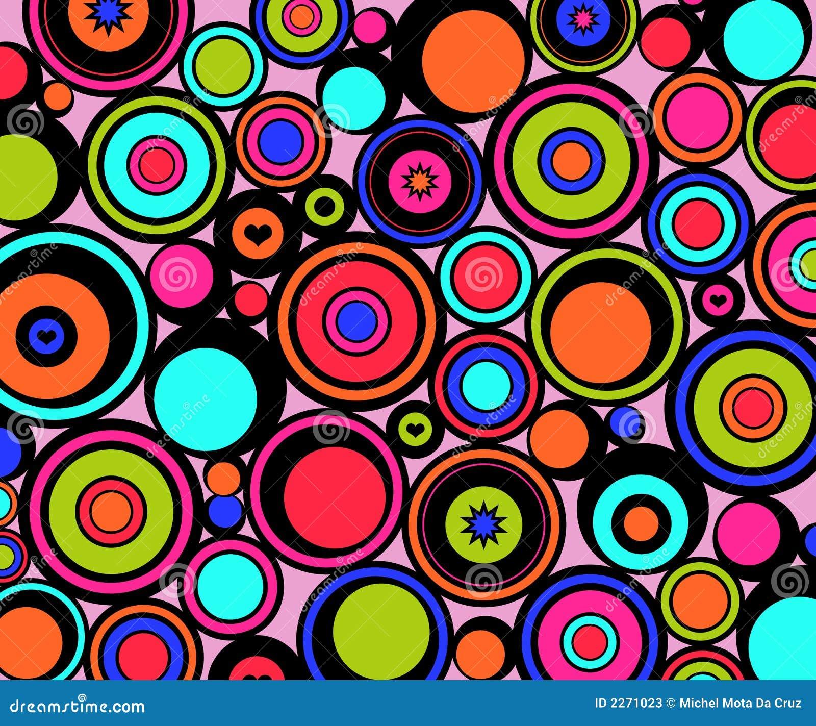 Abstracte retro cirkels