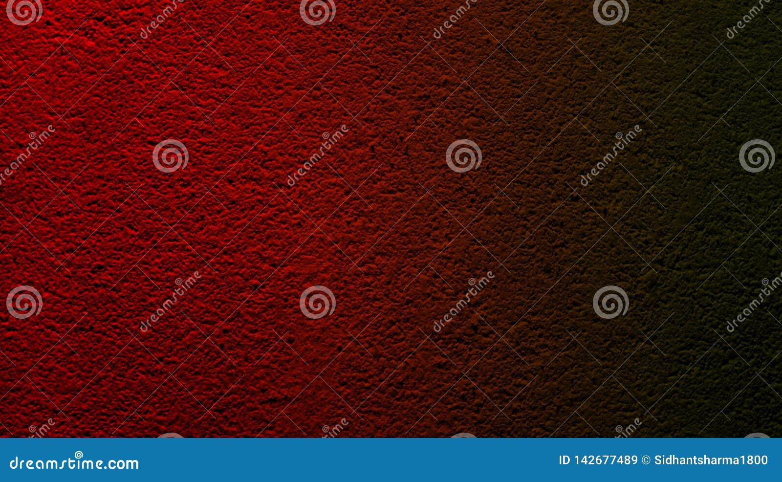 Abstracte rode zwarte kleur met achtergrond van de muur de ruwe droge textuur