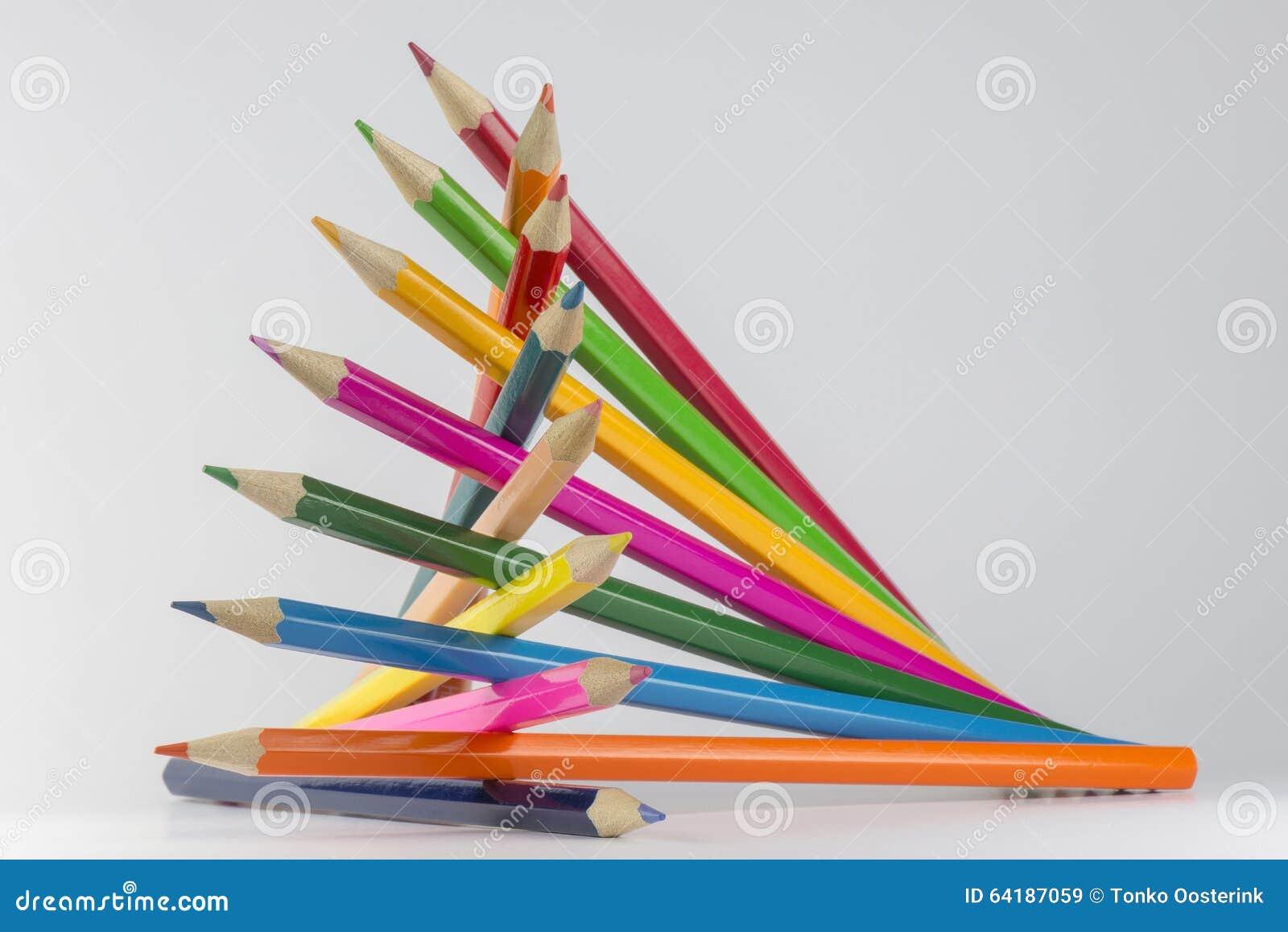 Abstracte samenstelling van potloden van een reeks de houten kleur stock afbeelding afbeelding - Kleur van een volwassen kamer ...