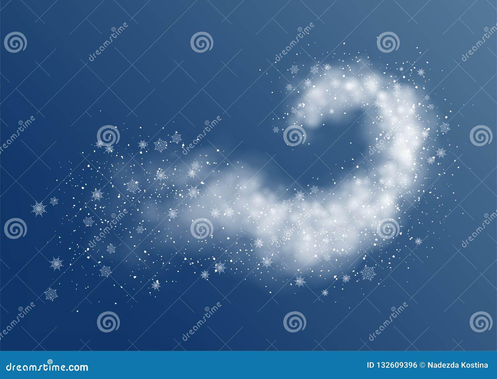 Abstracte Sneeuwblizzard