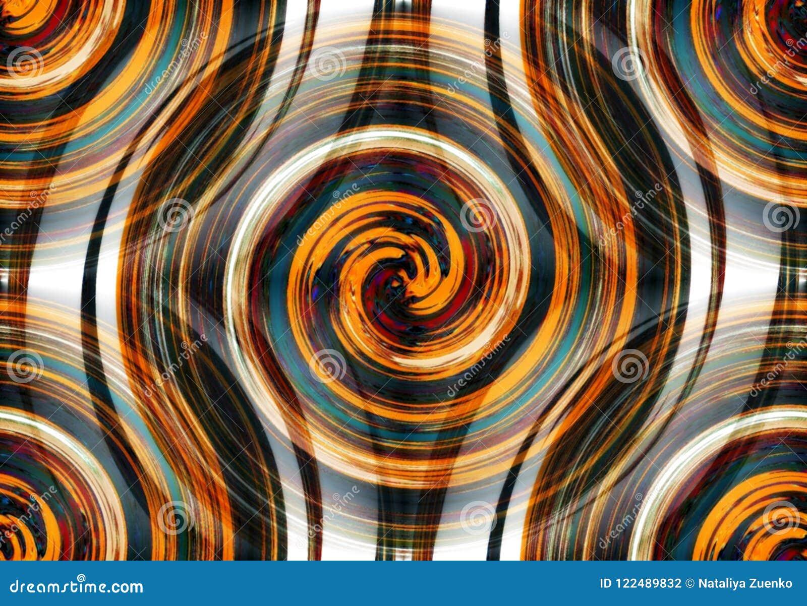 Abstracte spiraalvormige psychedelische fractal van vage kleuren