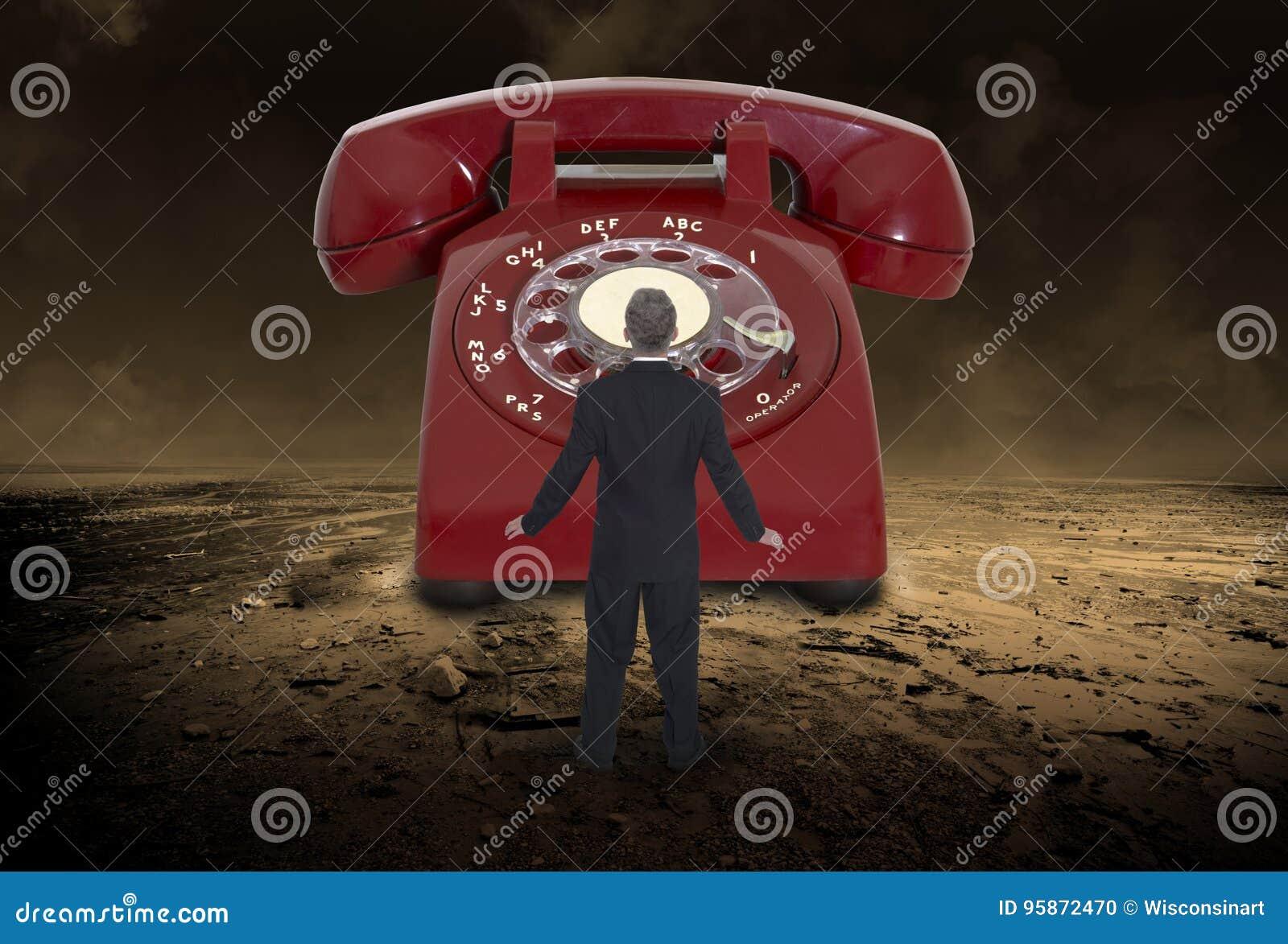 Abstracte Telefoonverkoop, Marketing, Zaken