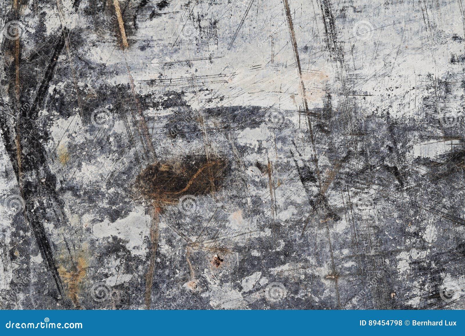 Abstracte Textuur Als achtergrond in Wit en Bruin op Zwarte II