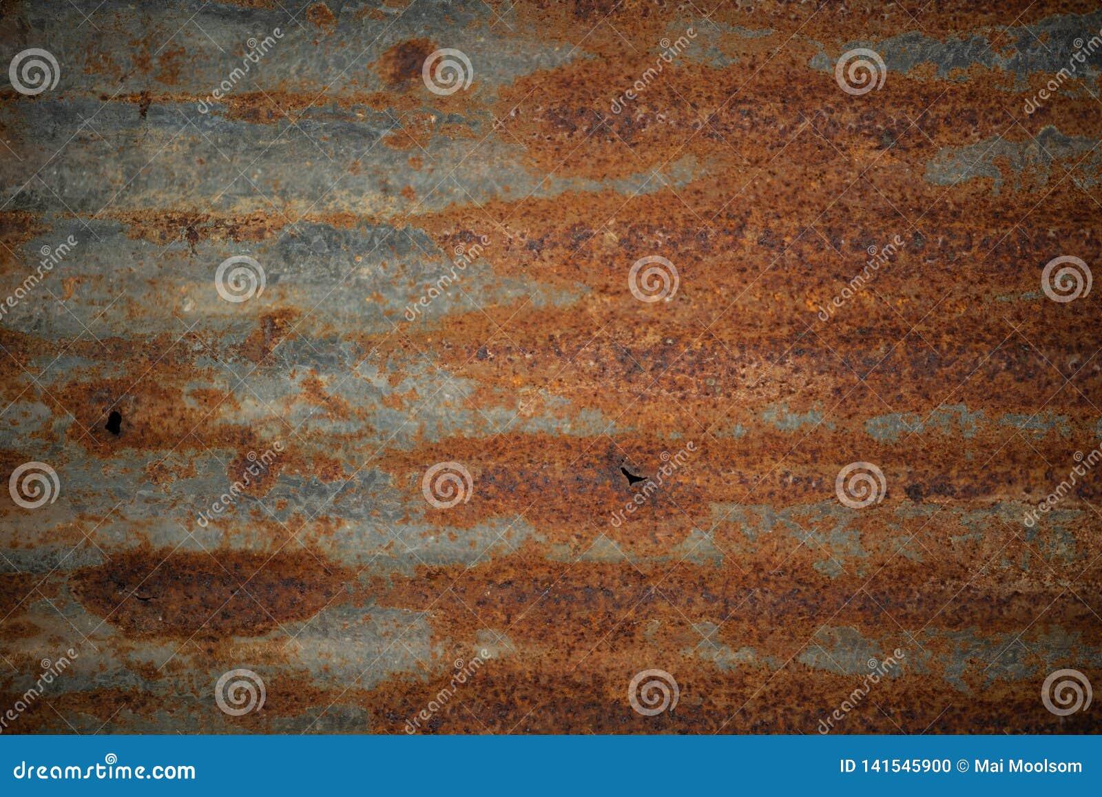 Abstracte textuur en oud geroest gegalvaniseerd ijzerblad gebruik voor achtergrond