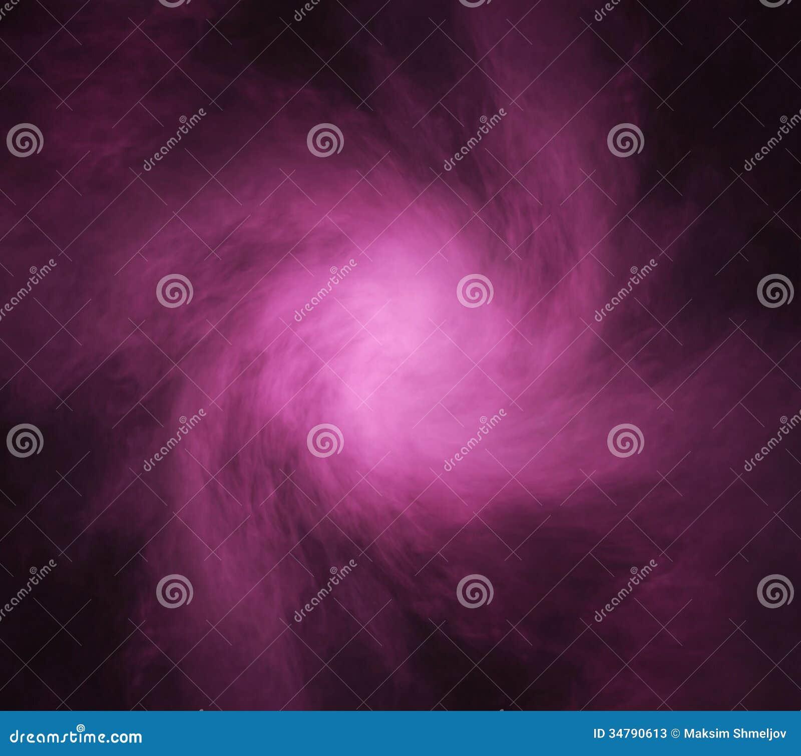 Abstracte textuur van de purpere rook op een zwarte achtergrond