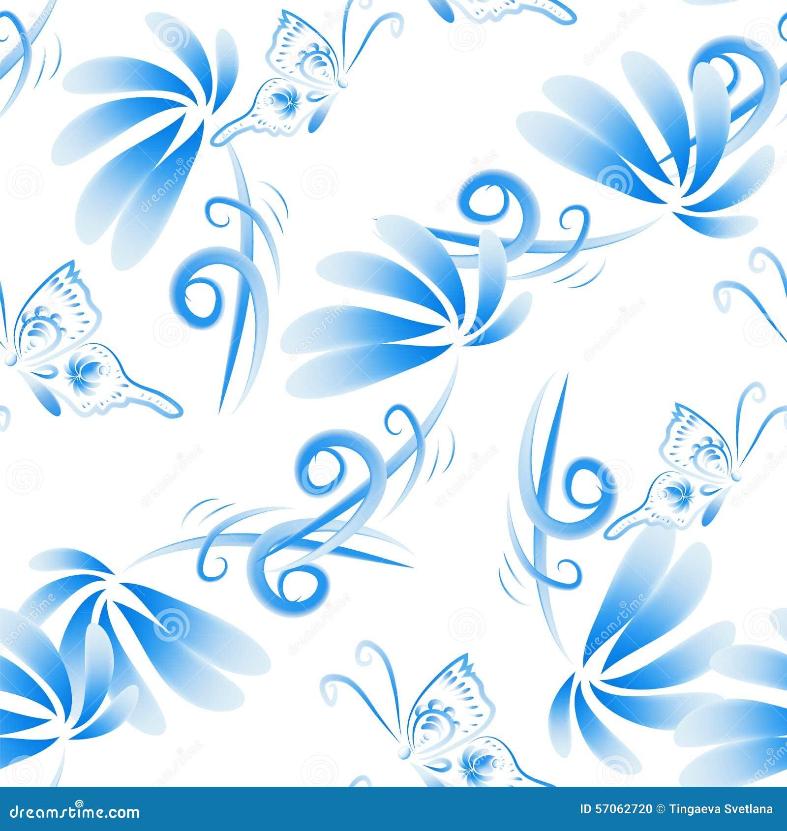 Abstracte vector bloemen naadloze achtergrond