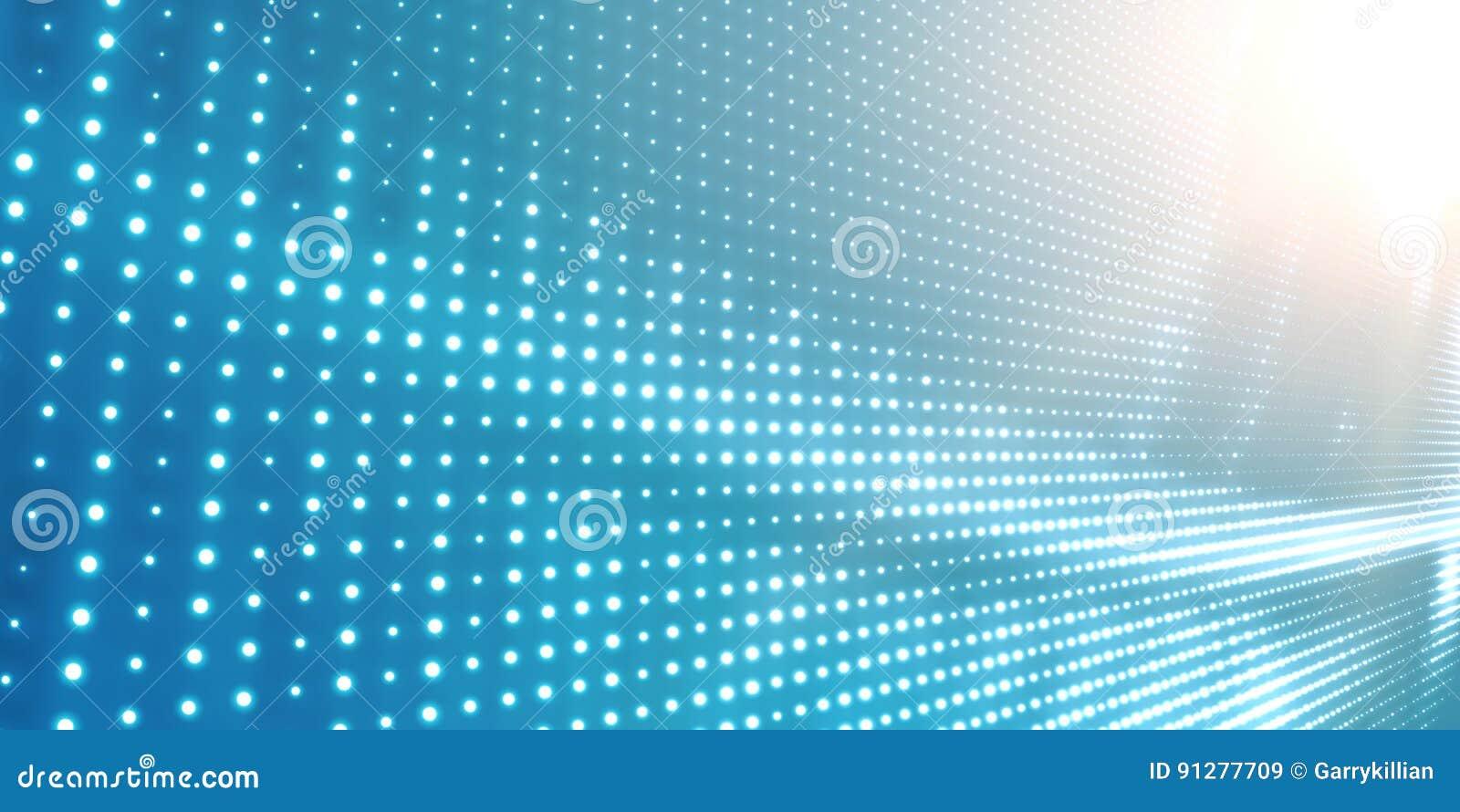 Abstracte vector lichtblauwe achtergrond met glanzende neonlichten Neonteken met abstract beeld in perspectief