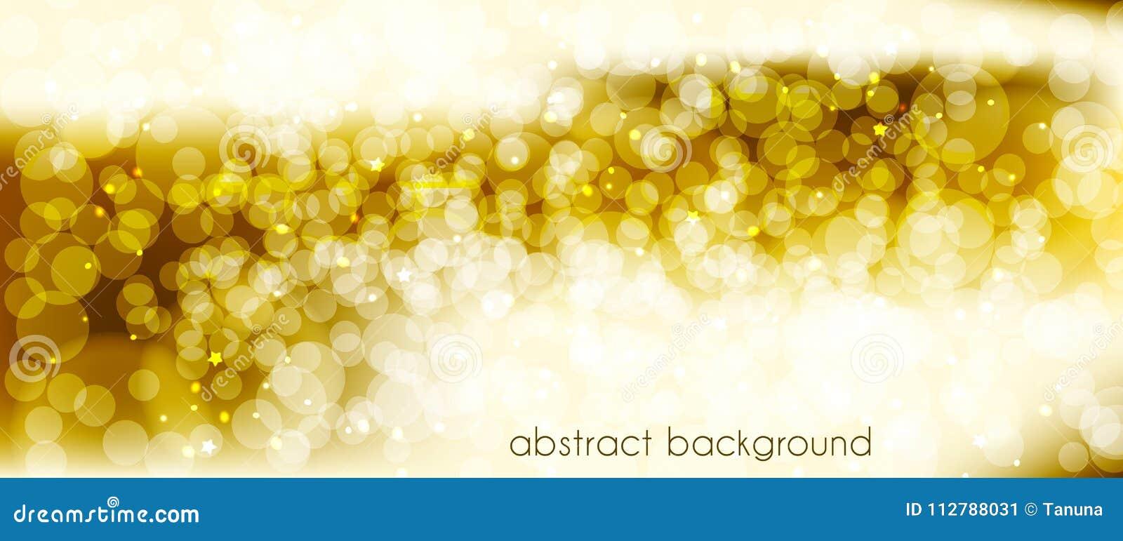 Abstracte vectorachtergrond in gouden tonen Achtergrond voor het verfraaien van de plaats` s Kopbal, banner, vakantiekaarten, gel