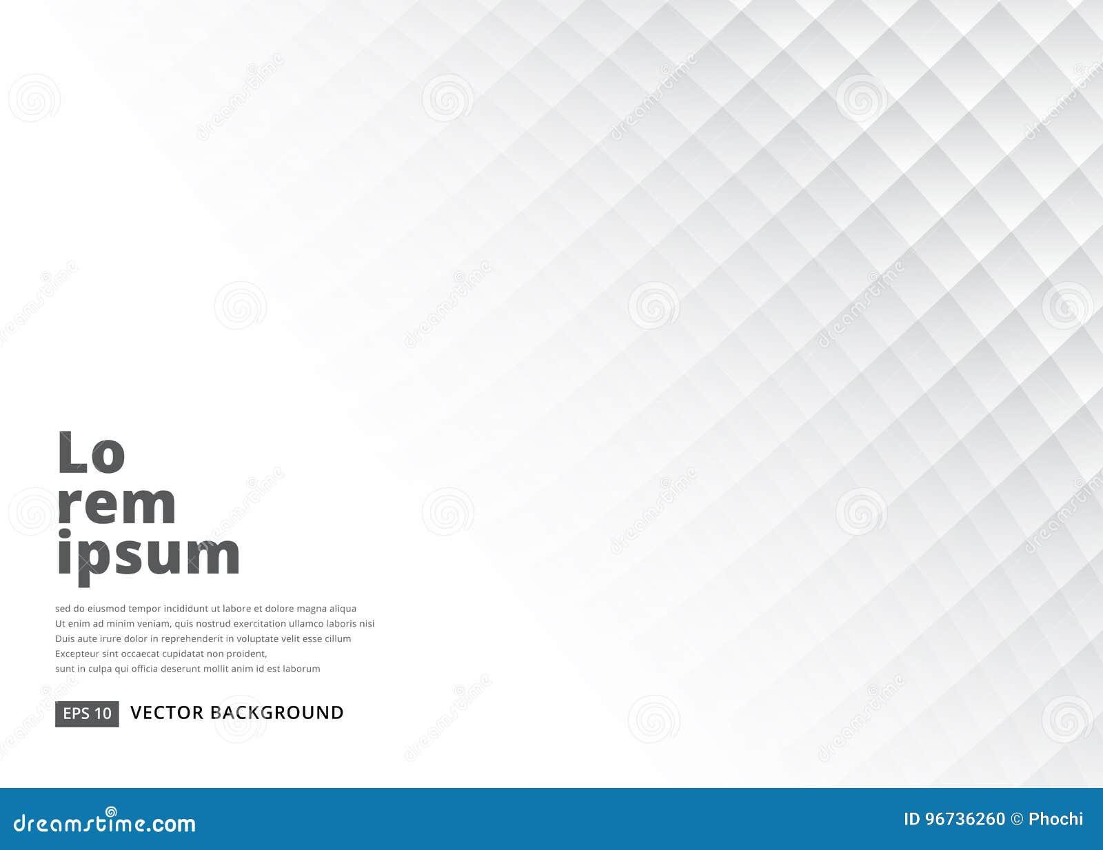 Abstracte vierkante achtergrond met perspectief Witte zachte textuur
