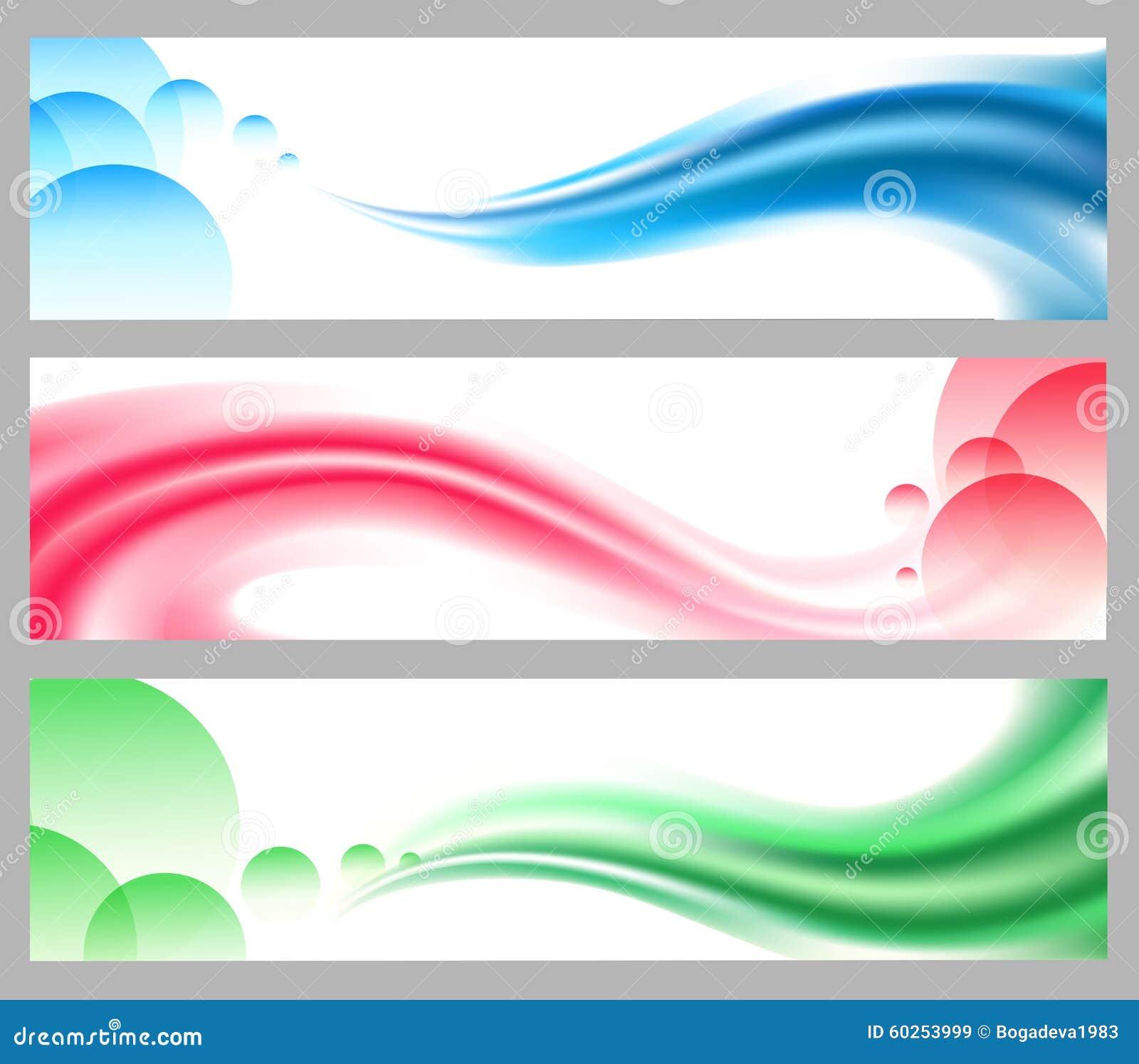 Abstracte vlotte golvende geplaatste kopballen of banners