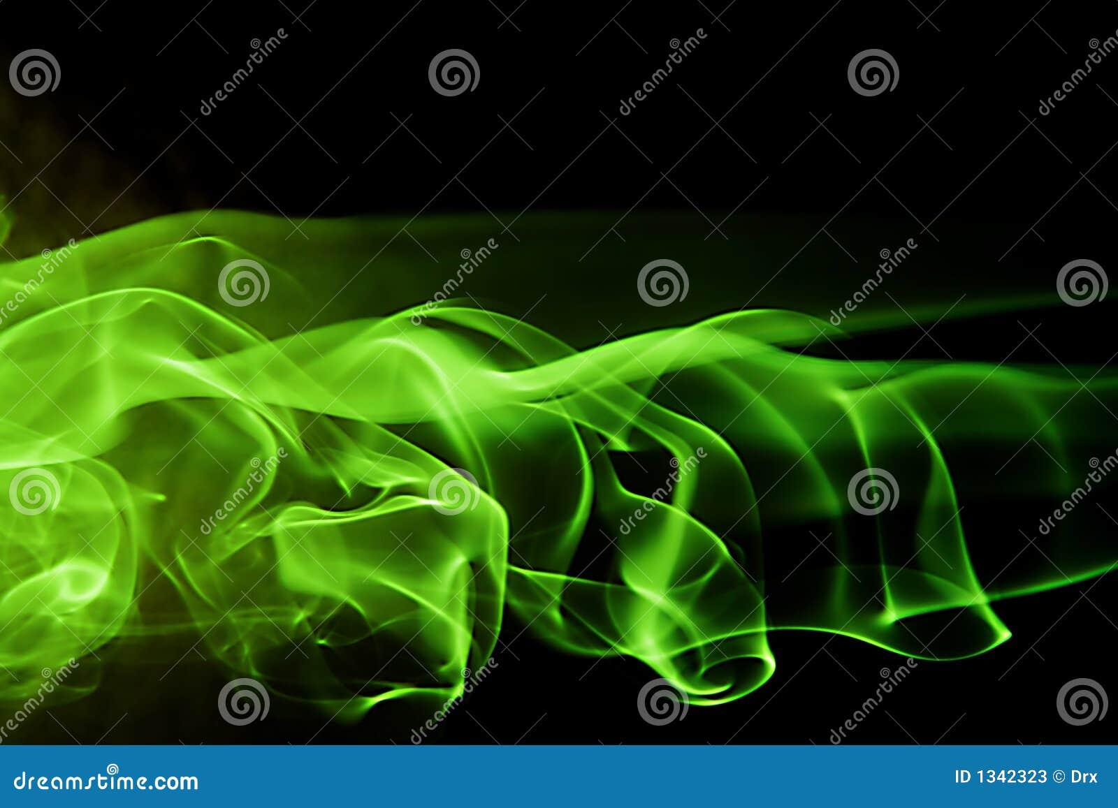 Abstracte vorm als achtergrond - groene rook