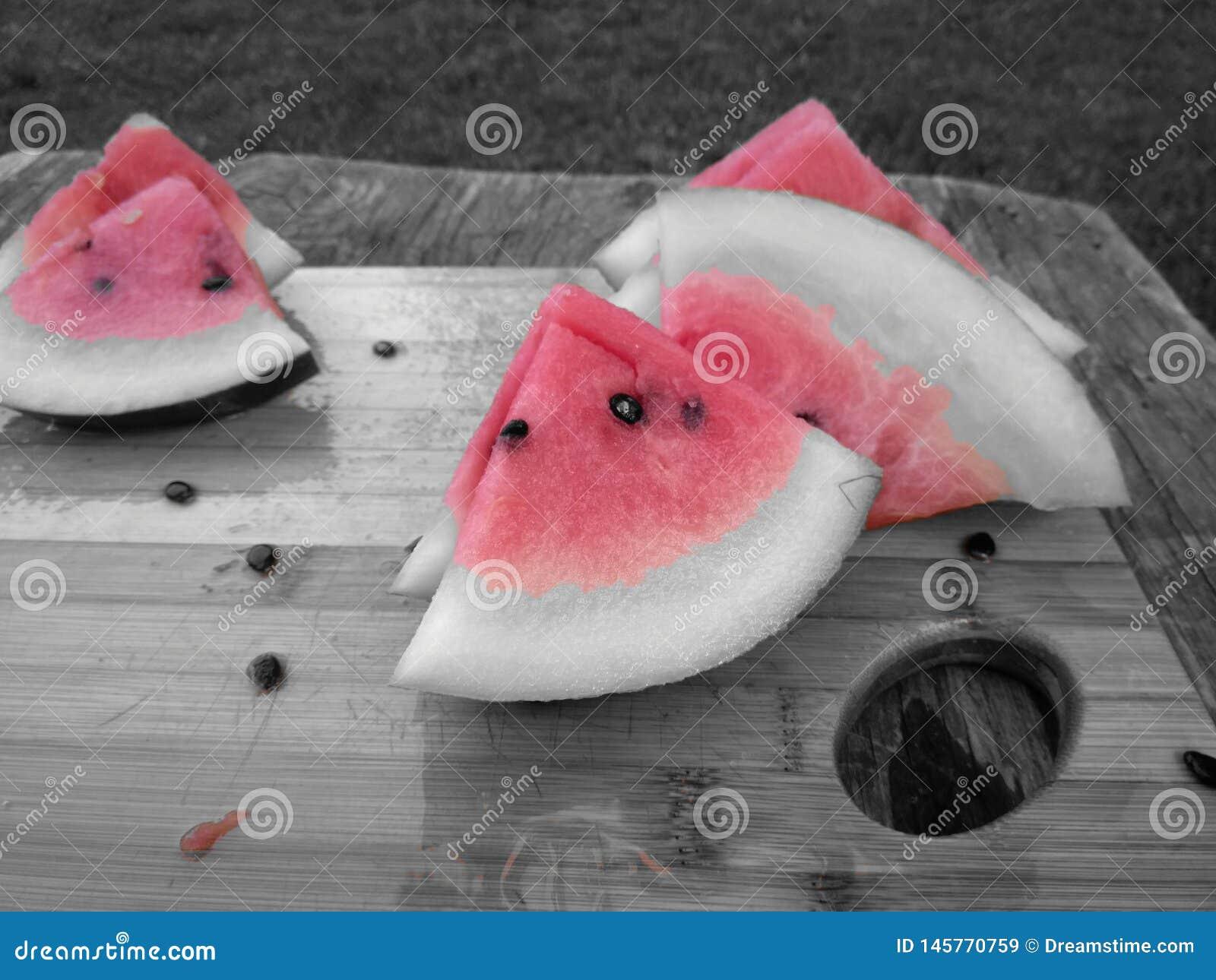 Abstracte watermeloenplakken