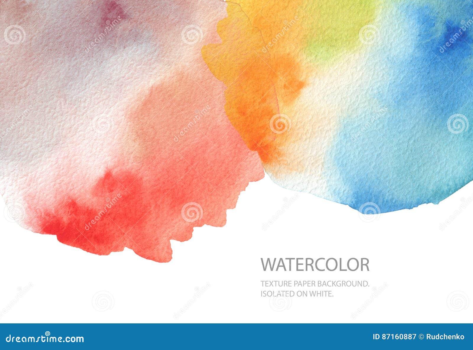Abstracte waterverfvlek geschilderde achtergrond Het document van de textuur Isol