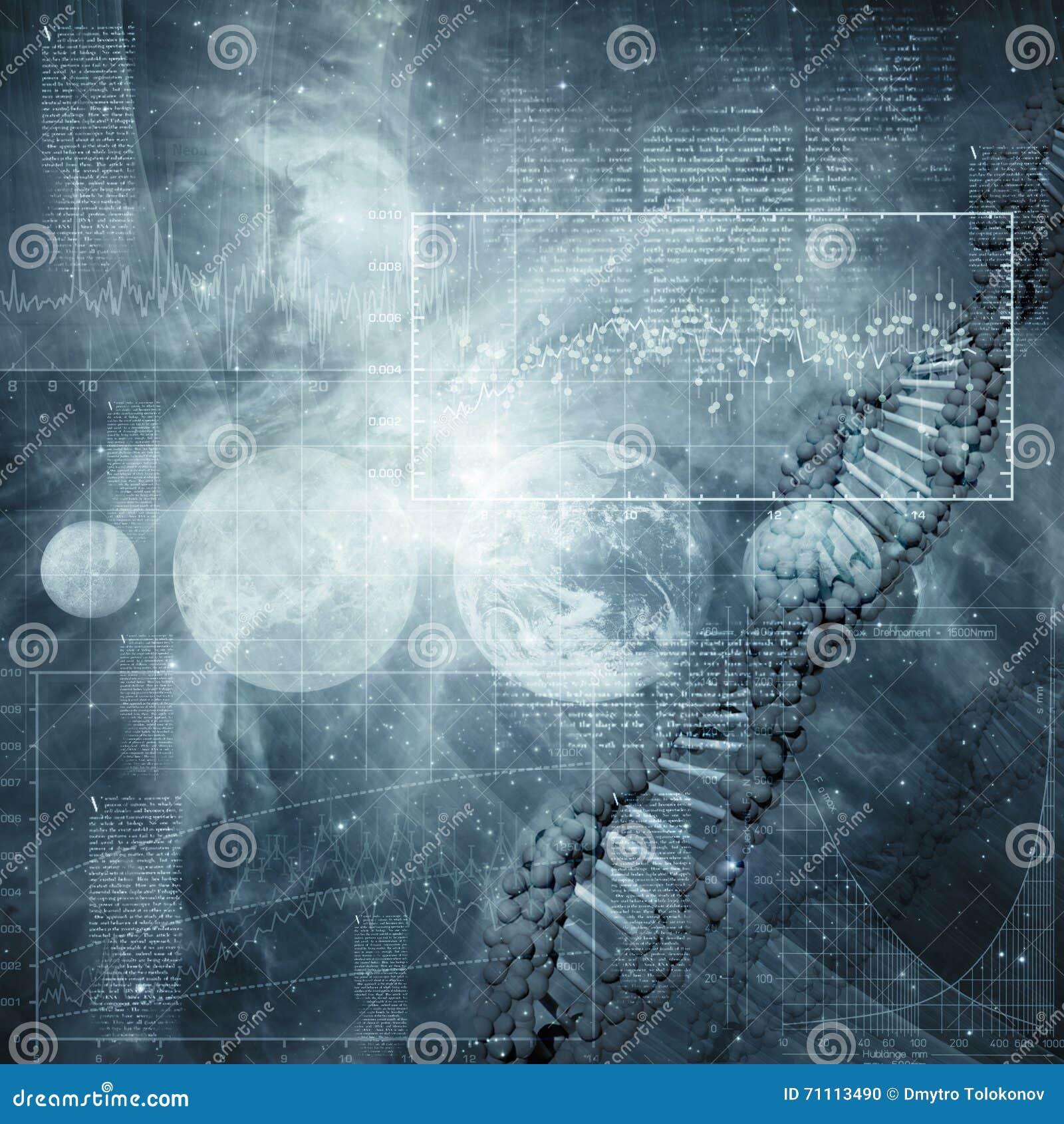 Abstracte wetenschap en technologieachtergronden