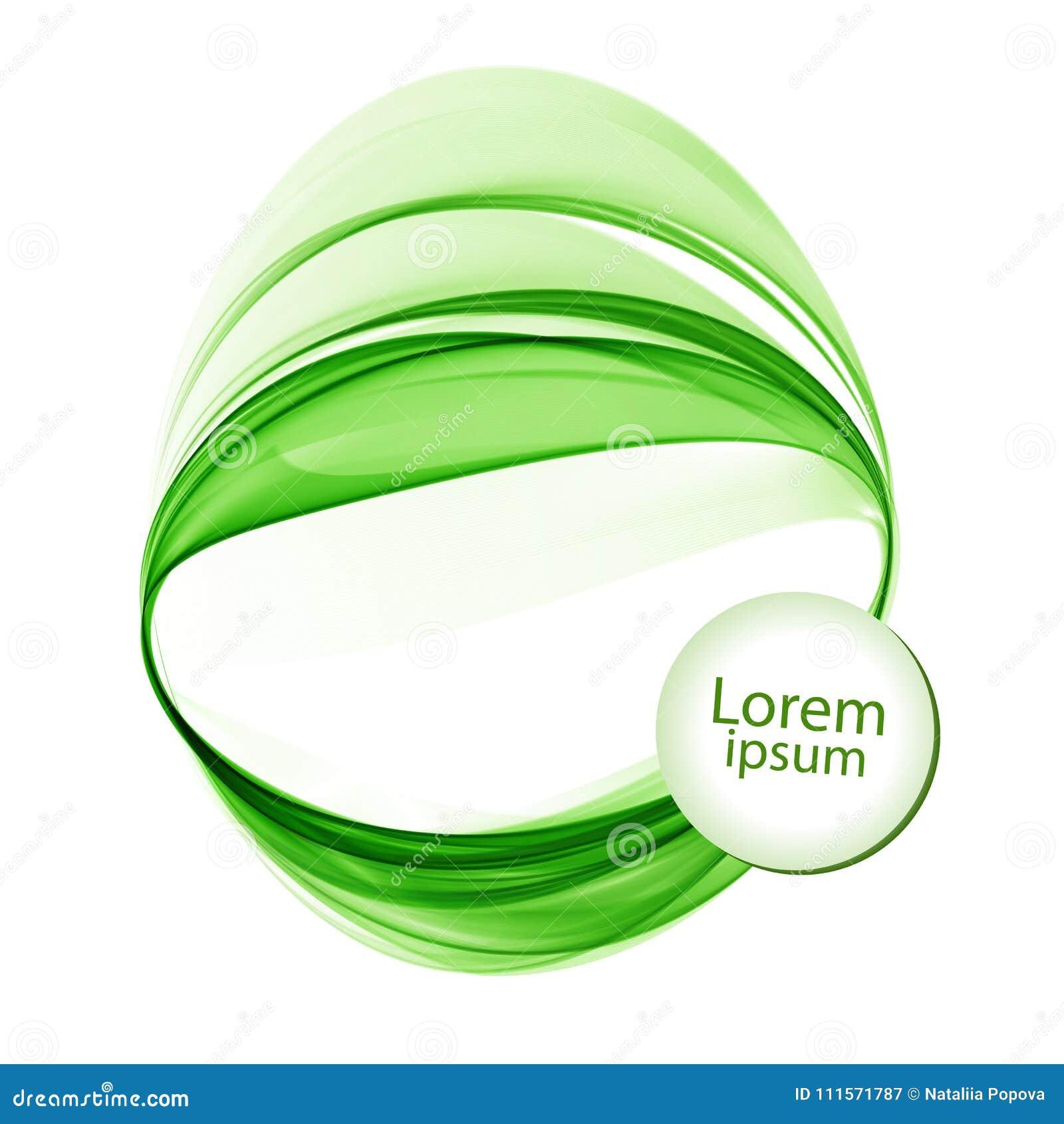 Abstracte witte achtergrond met groene lijnen in de vorm van cirkels