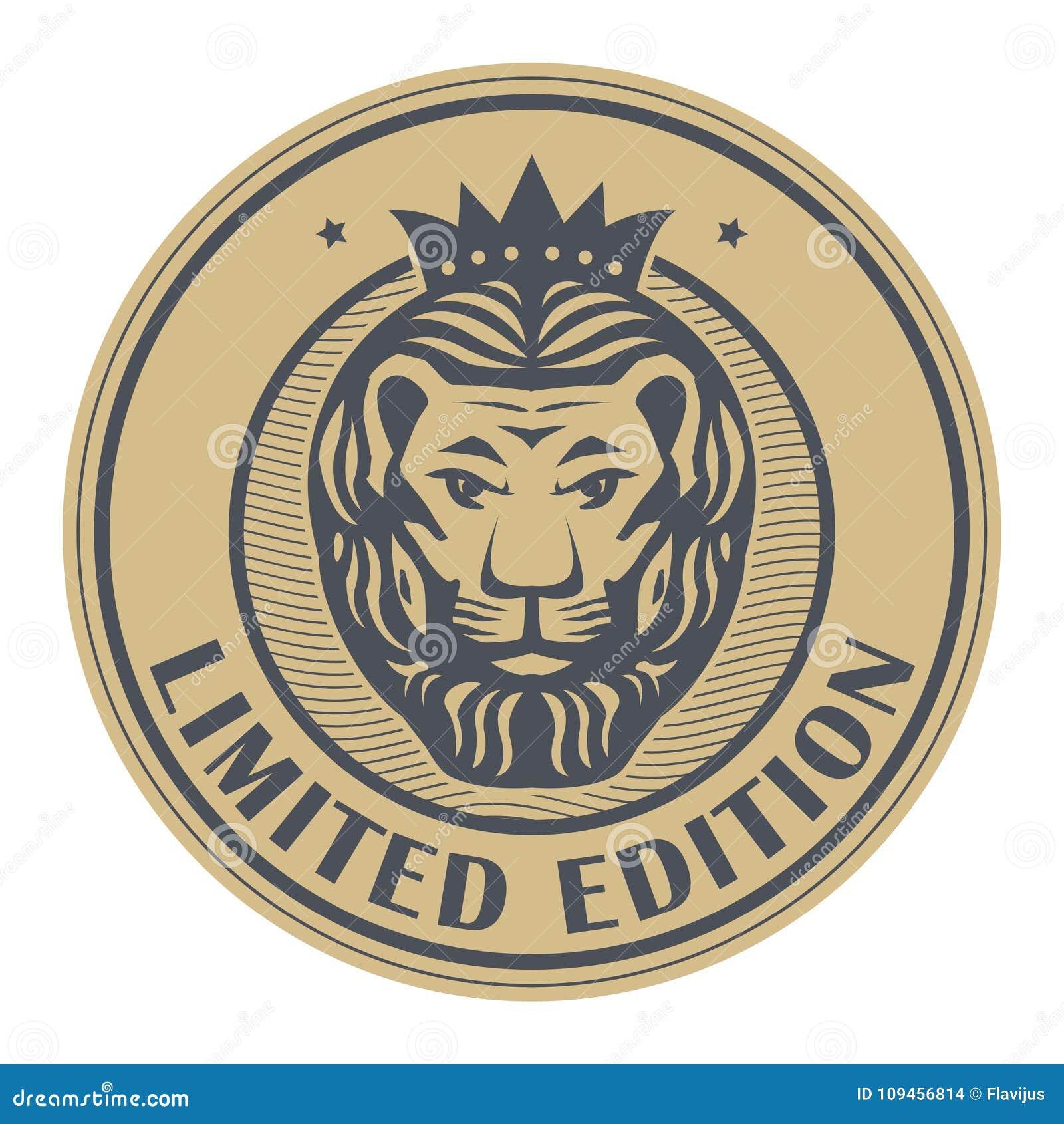 Abstracte zegel met Lion Head