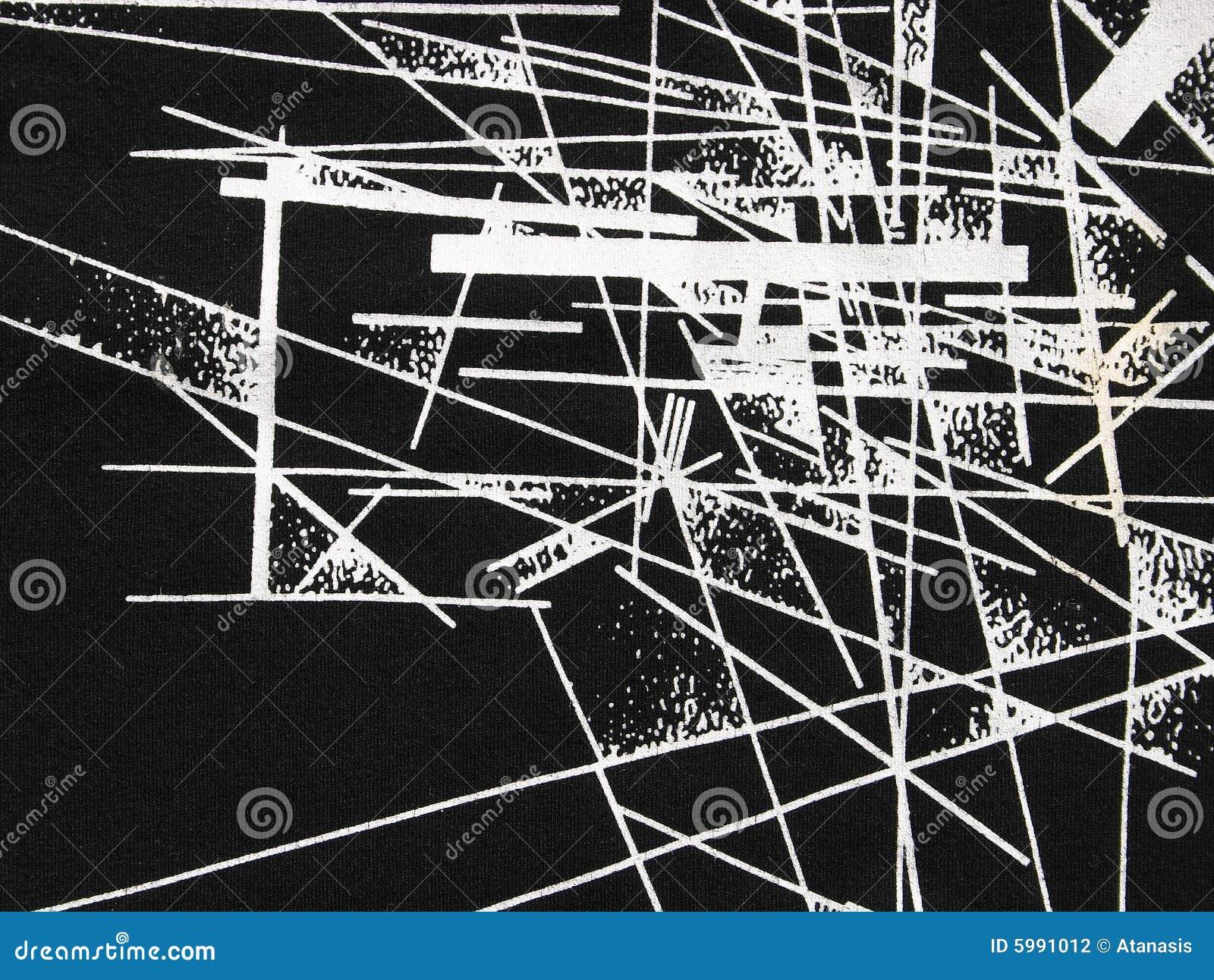 Abstracte zwart-wit