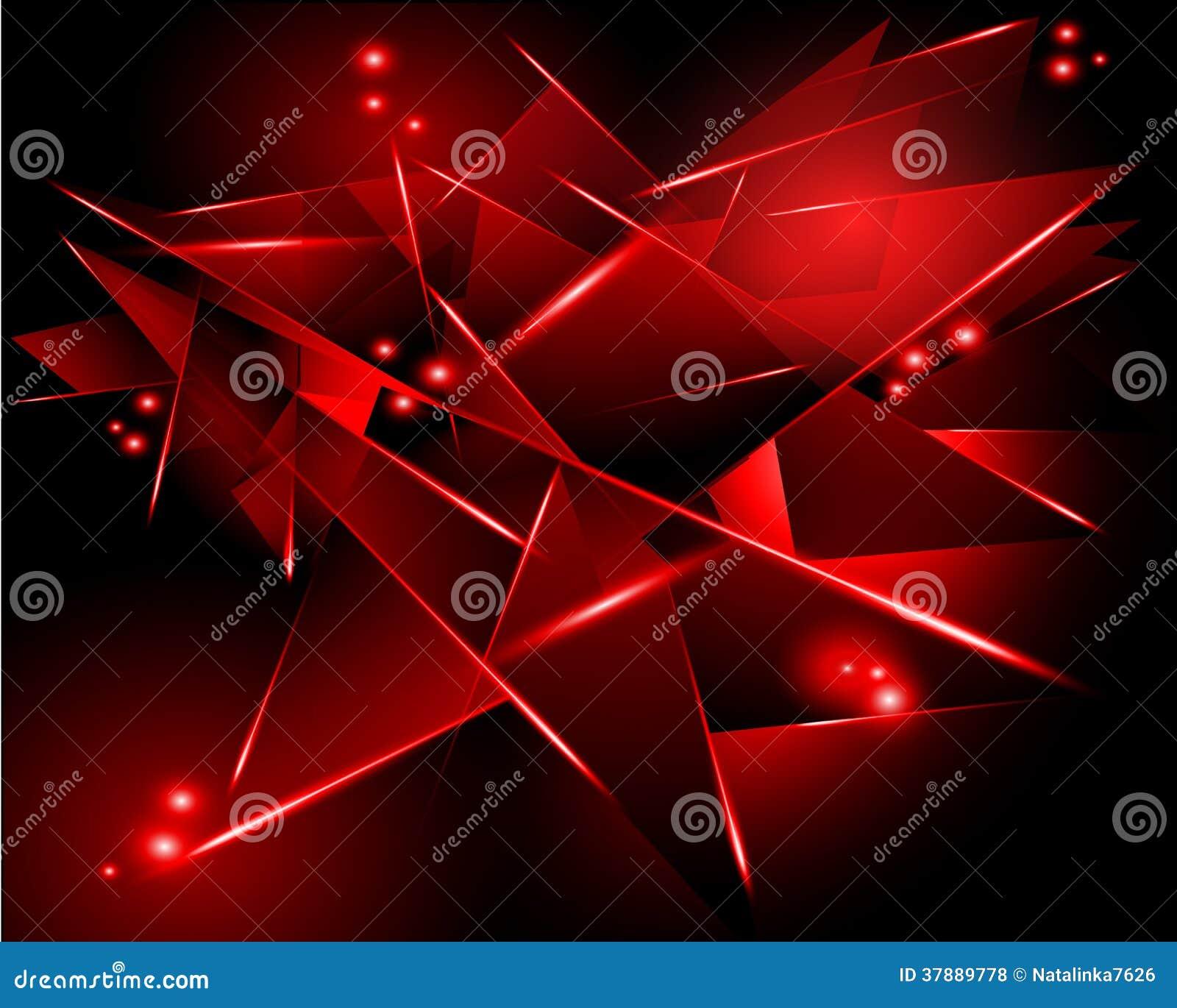 Abstracte zwarte achtergrond met rode geometrische vorm