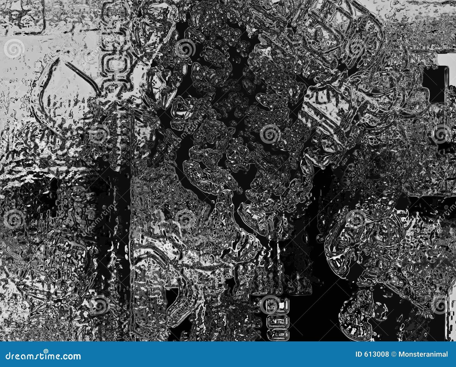 Abstracte zwarte en zilveren grungetextuur