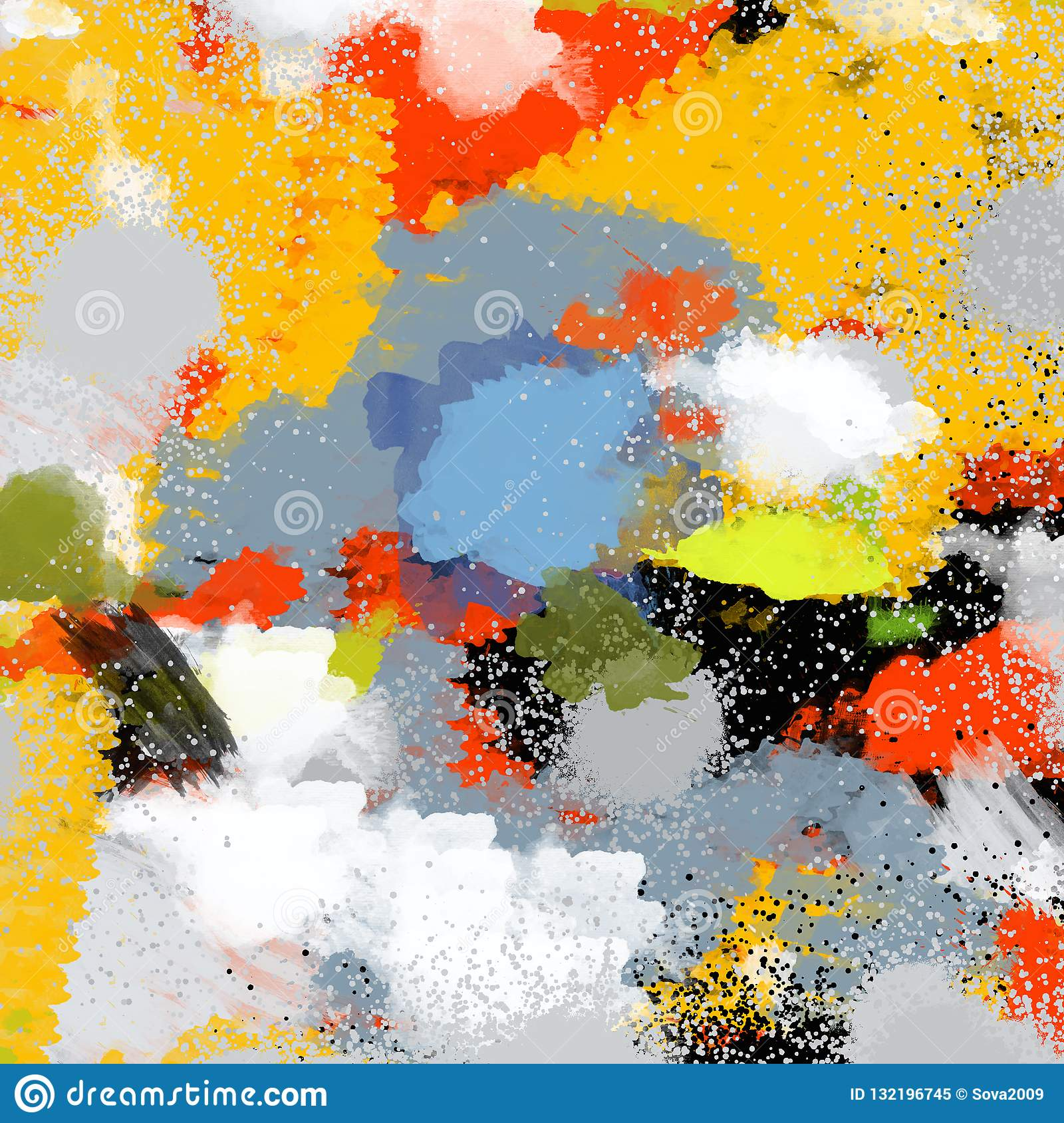 Abstraction As An Object In Art Stock Illustration