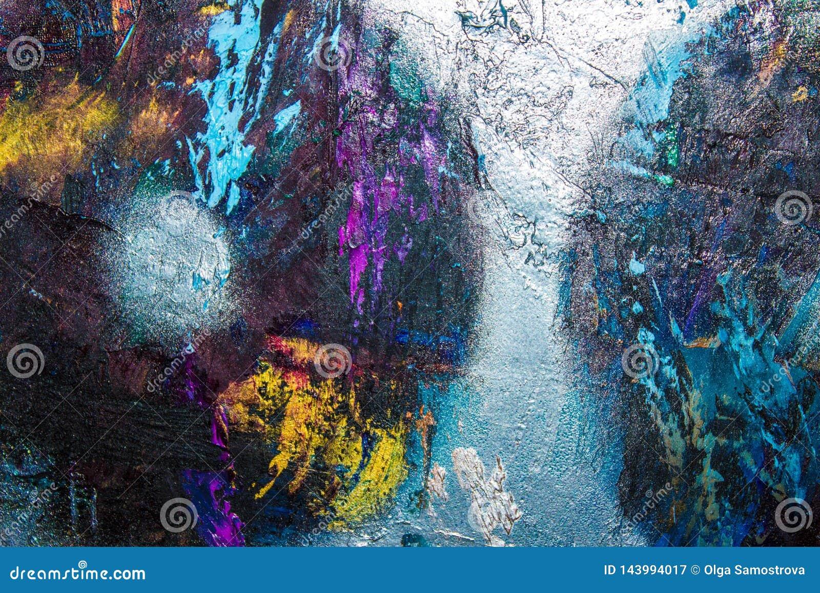 Abstraction De Peinture à L Huile Abstraction De Mur De