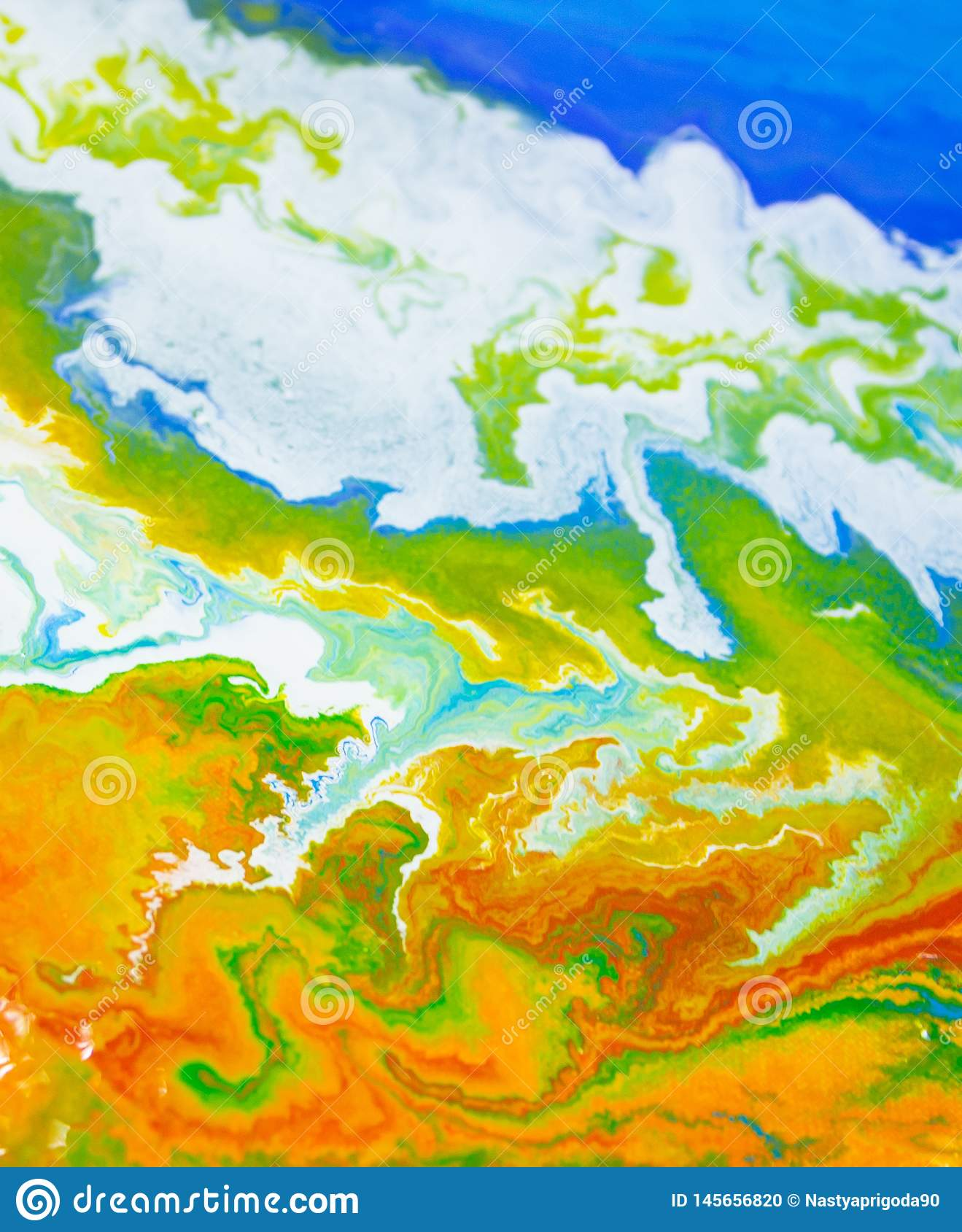 Abstraction earth planet fluid art