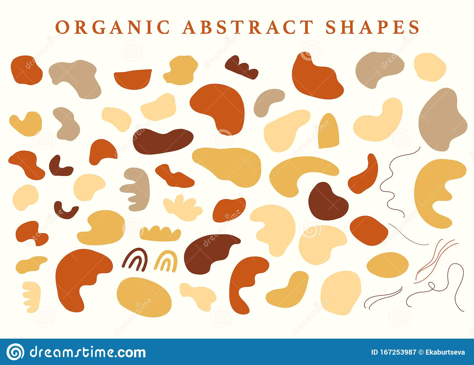 Abstraction Organic Shapes Set Stock Vector Illustration Of Design Layout 167253987
