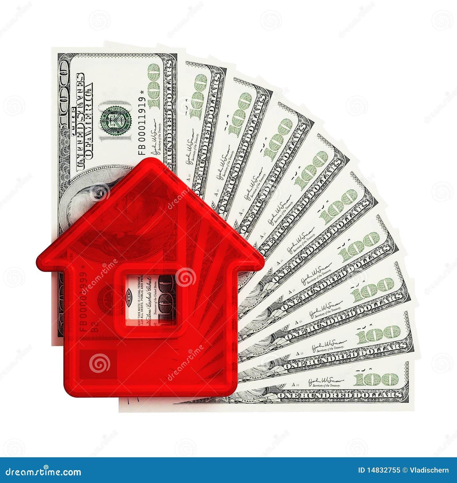Abstraia a casa com um cem-dólar