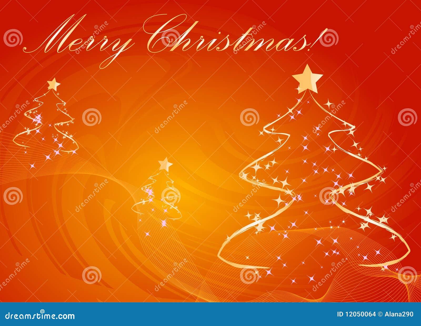 Abstraia o fundo da laranja das árvores de Natal