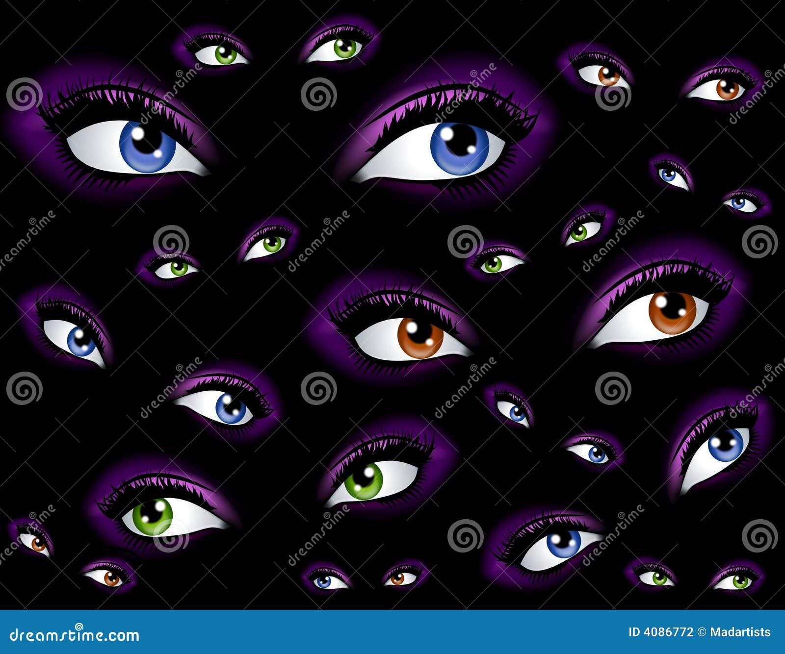 Abstraia o fundo de observação dos olhos