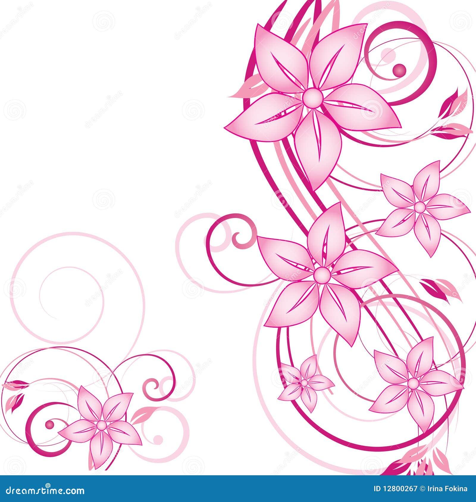Abstraia o fundo floral