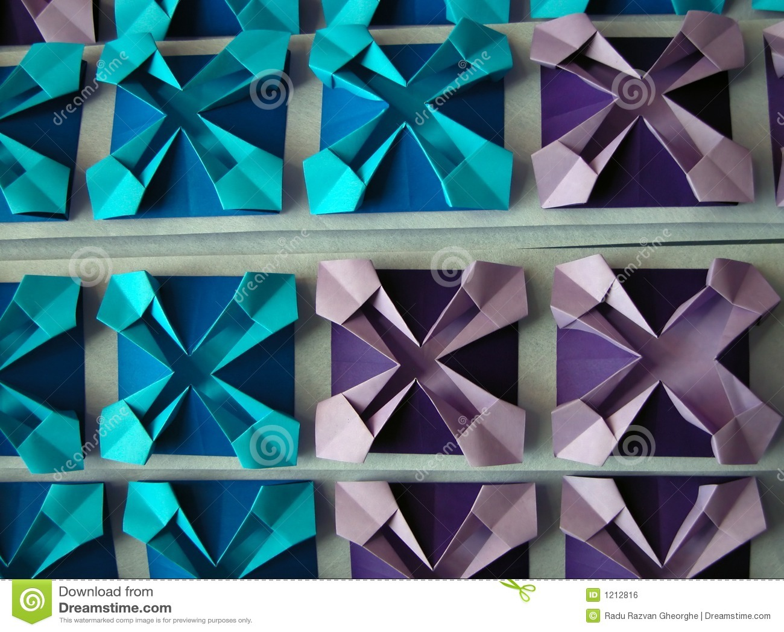 Abstraia o teste padrão do origami