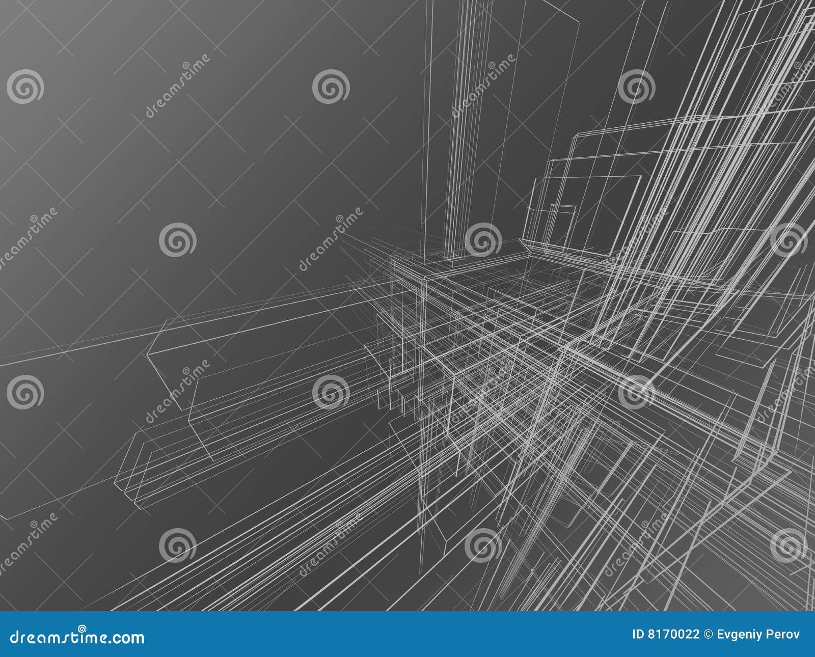 Abstraiga el wireframe en gris